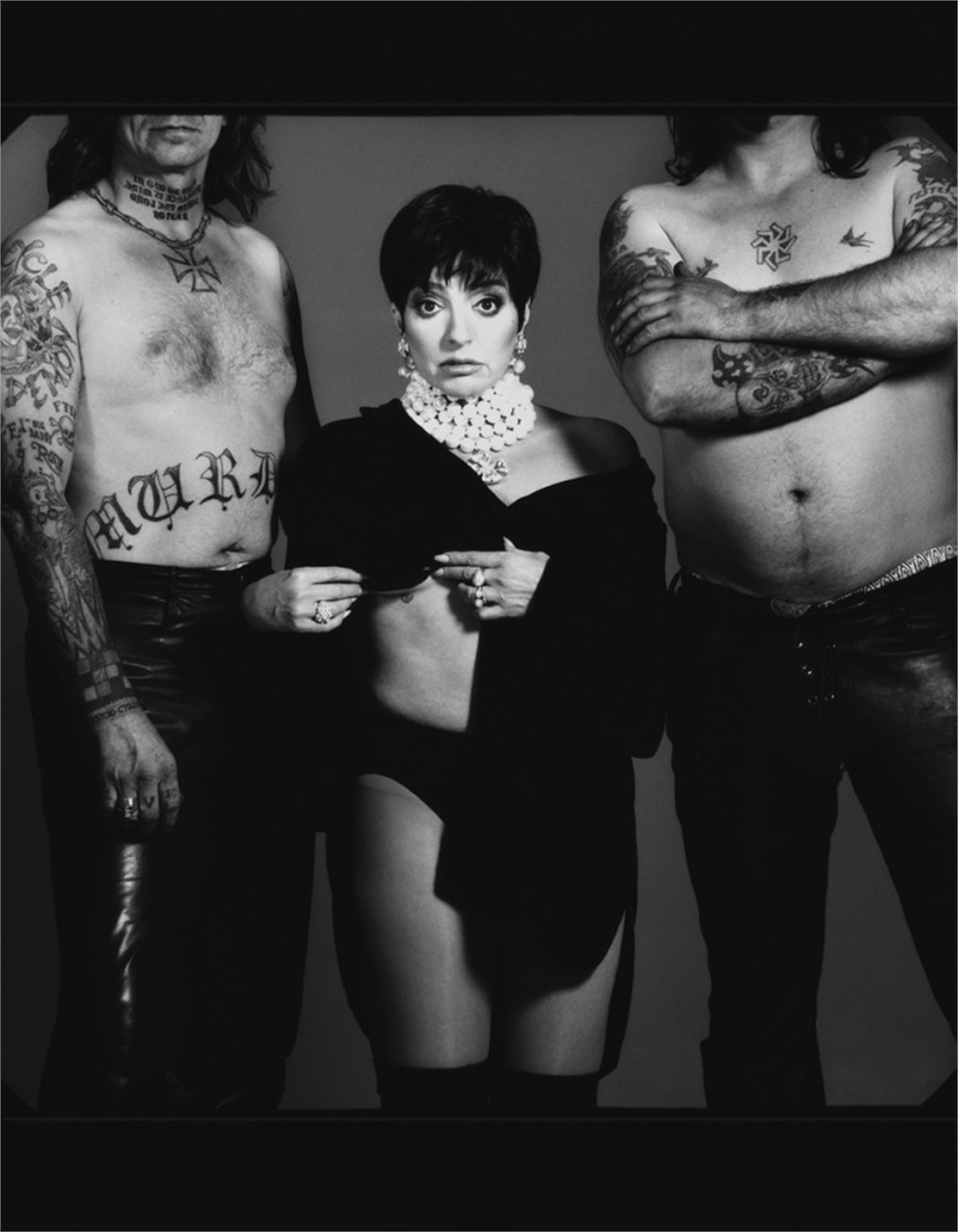96076 Liza Minnelli Tattoos BW by Timothy White