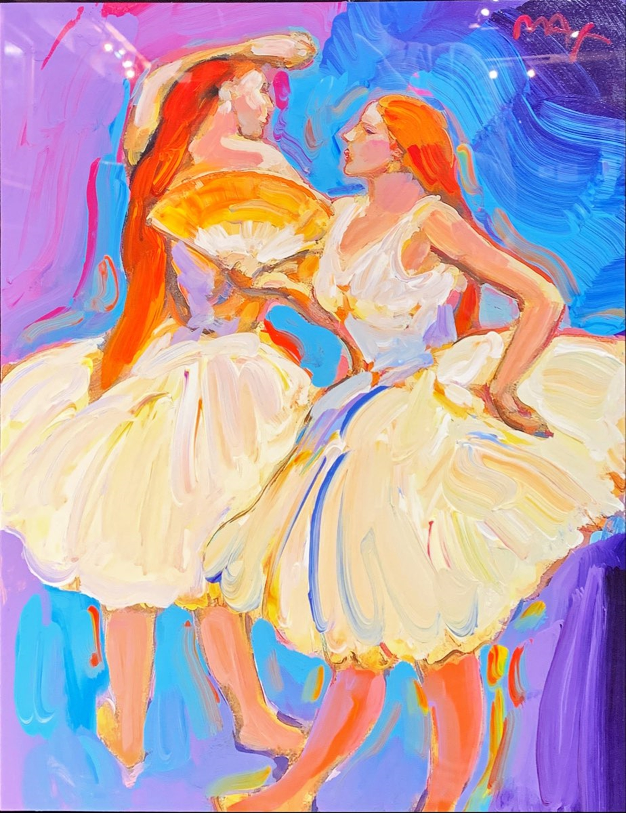Homage to Degas: Two Dancers with Fan by Peter Max