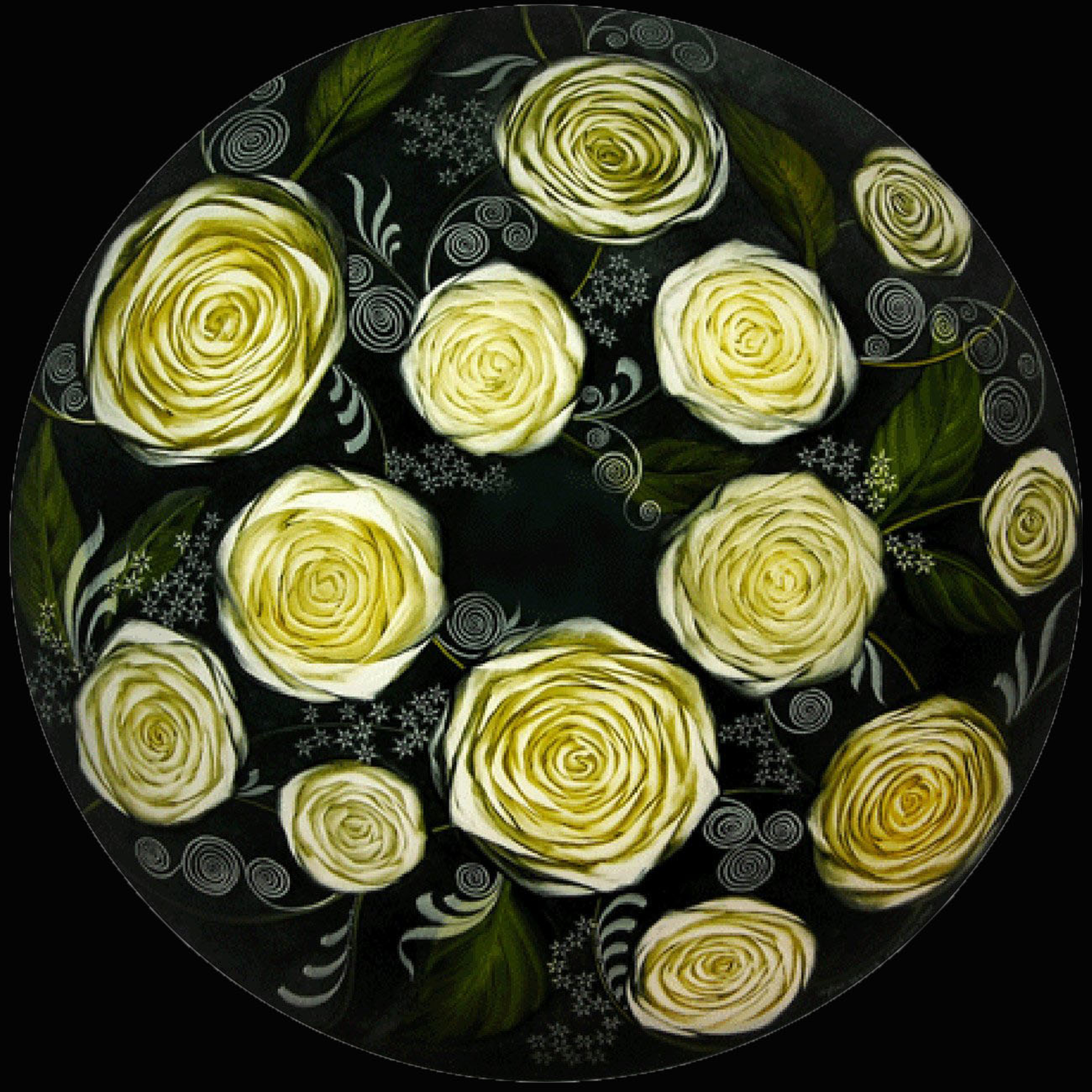 Design White Roses by Jamie Barthel
