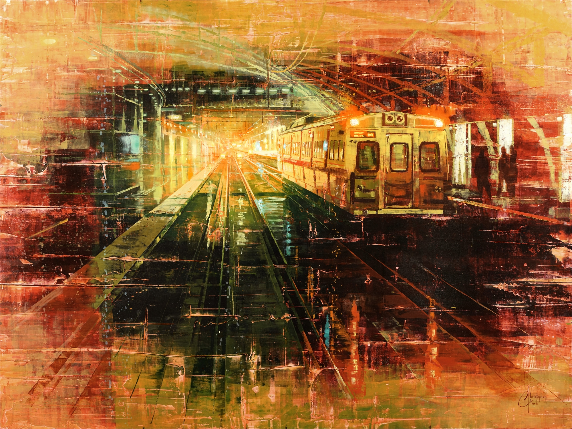 Denver - Tracks of Union Station by Christopher Clark