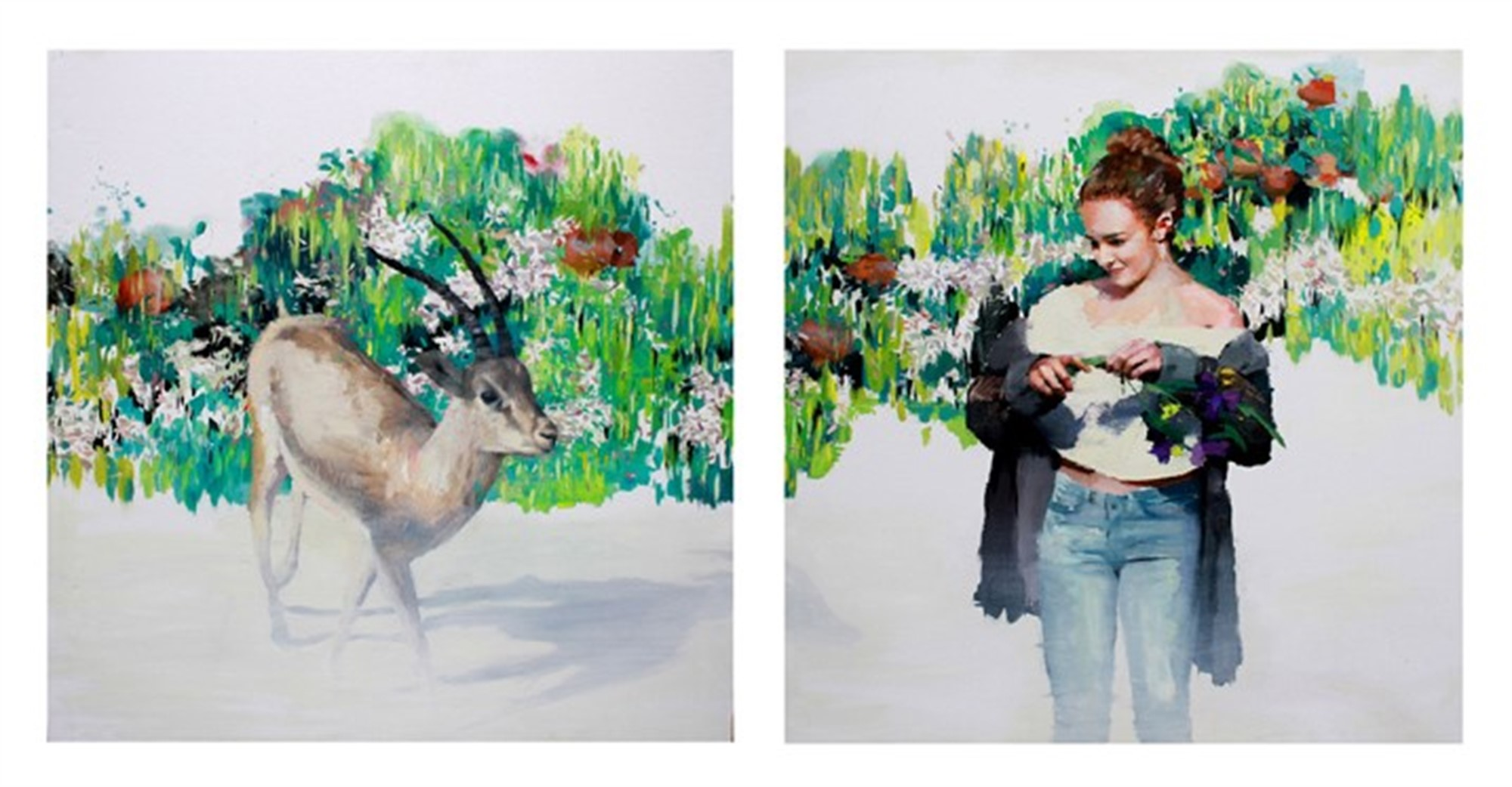 Gazella of Unexpected Love (diptych) by Susana Ragel