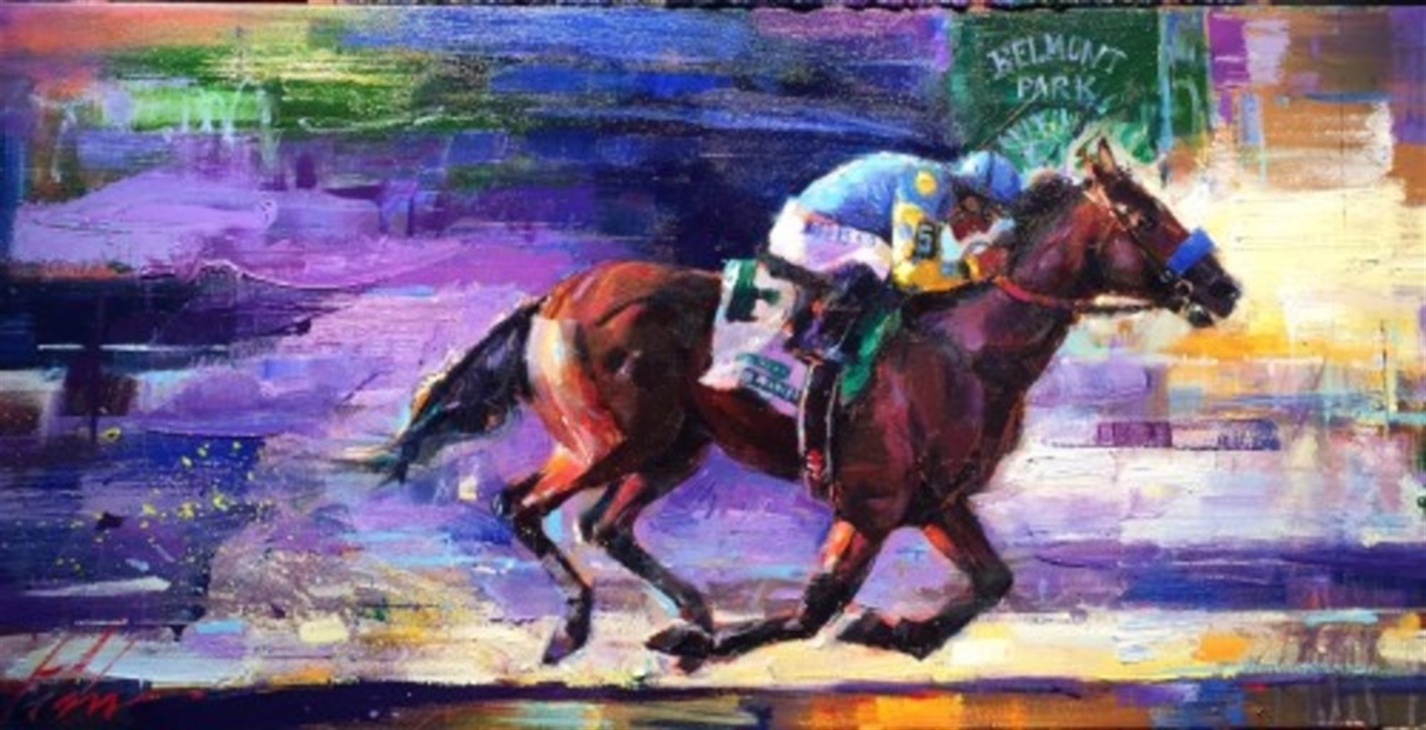 Triple Crown Collection - Win at Belmont by Michael Flohr
