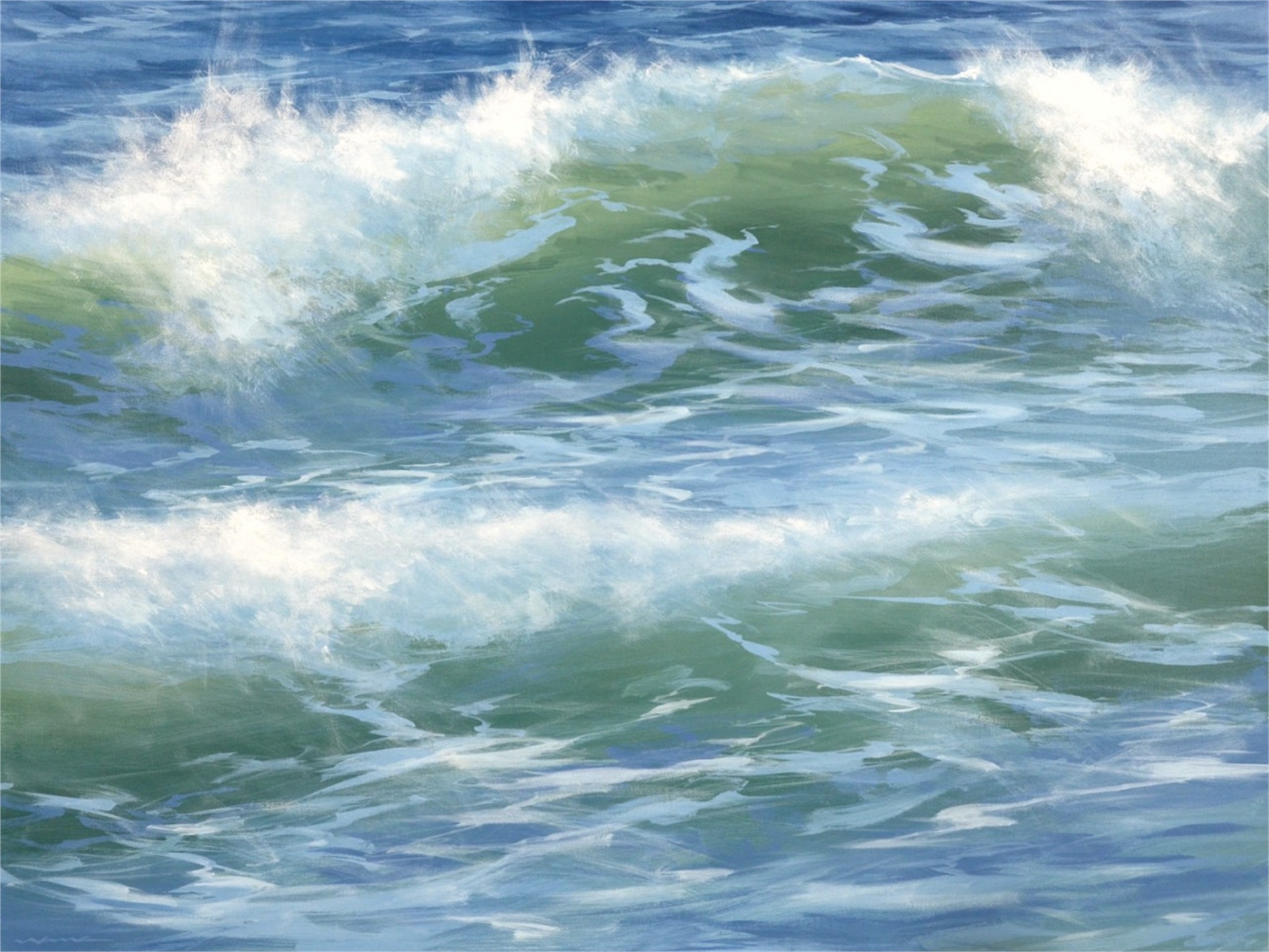 Blue Rush by David Nance