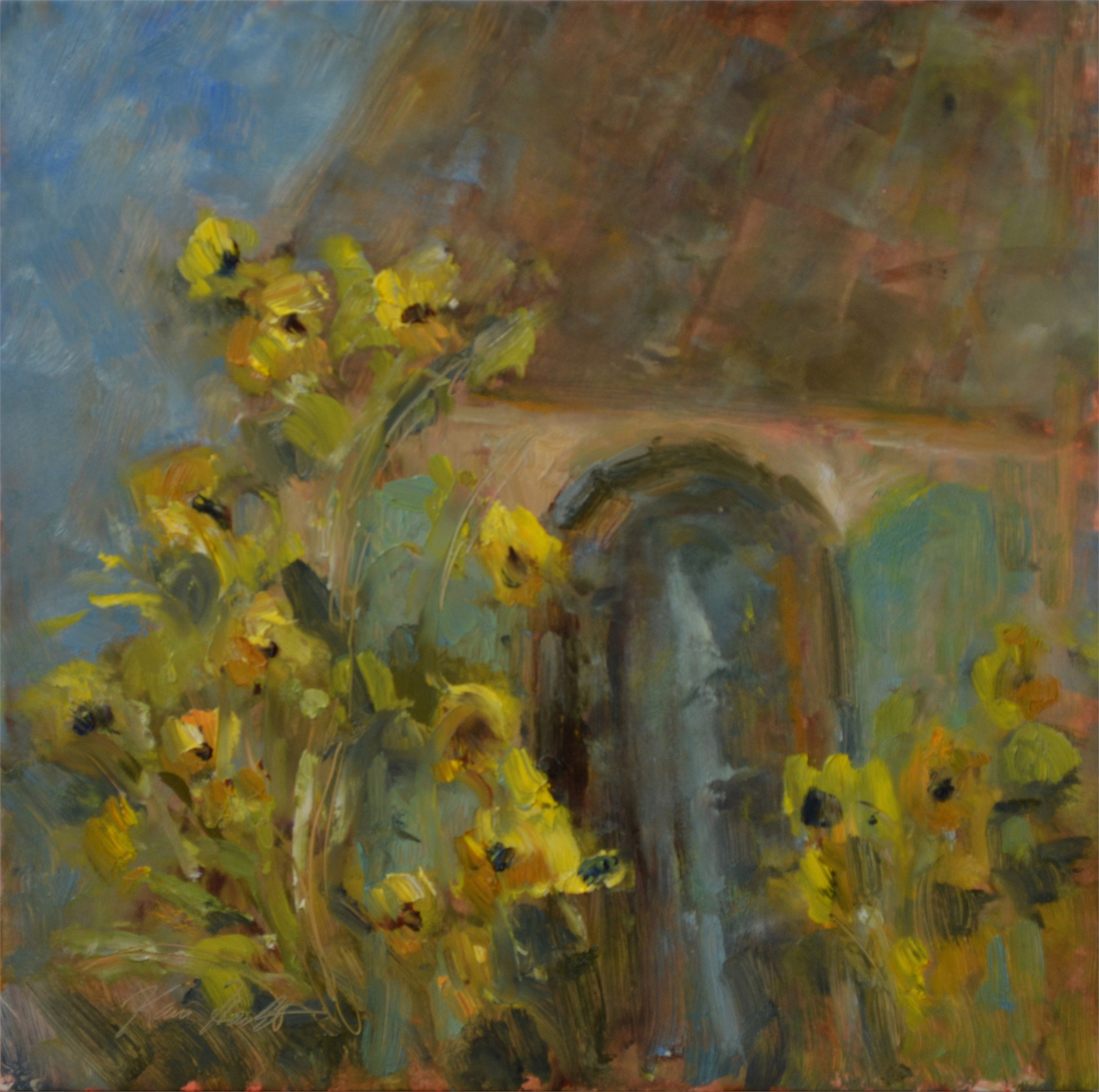 French Sunflowers by Karen Hewitt Hagan