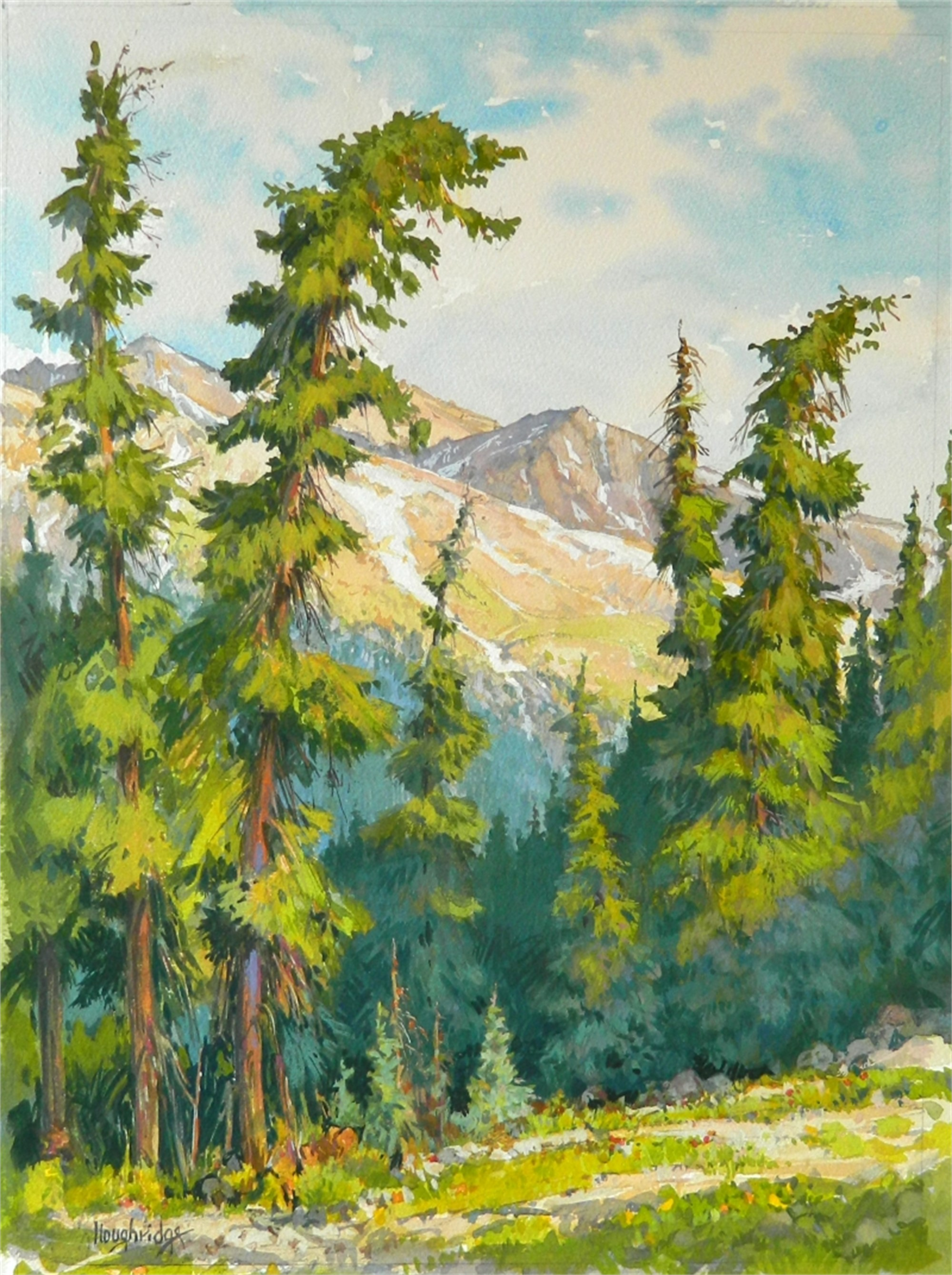 Along Hoosier Pass by Leon Loughridge