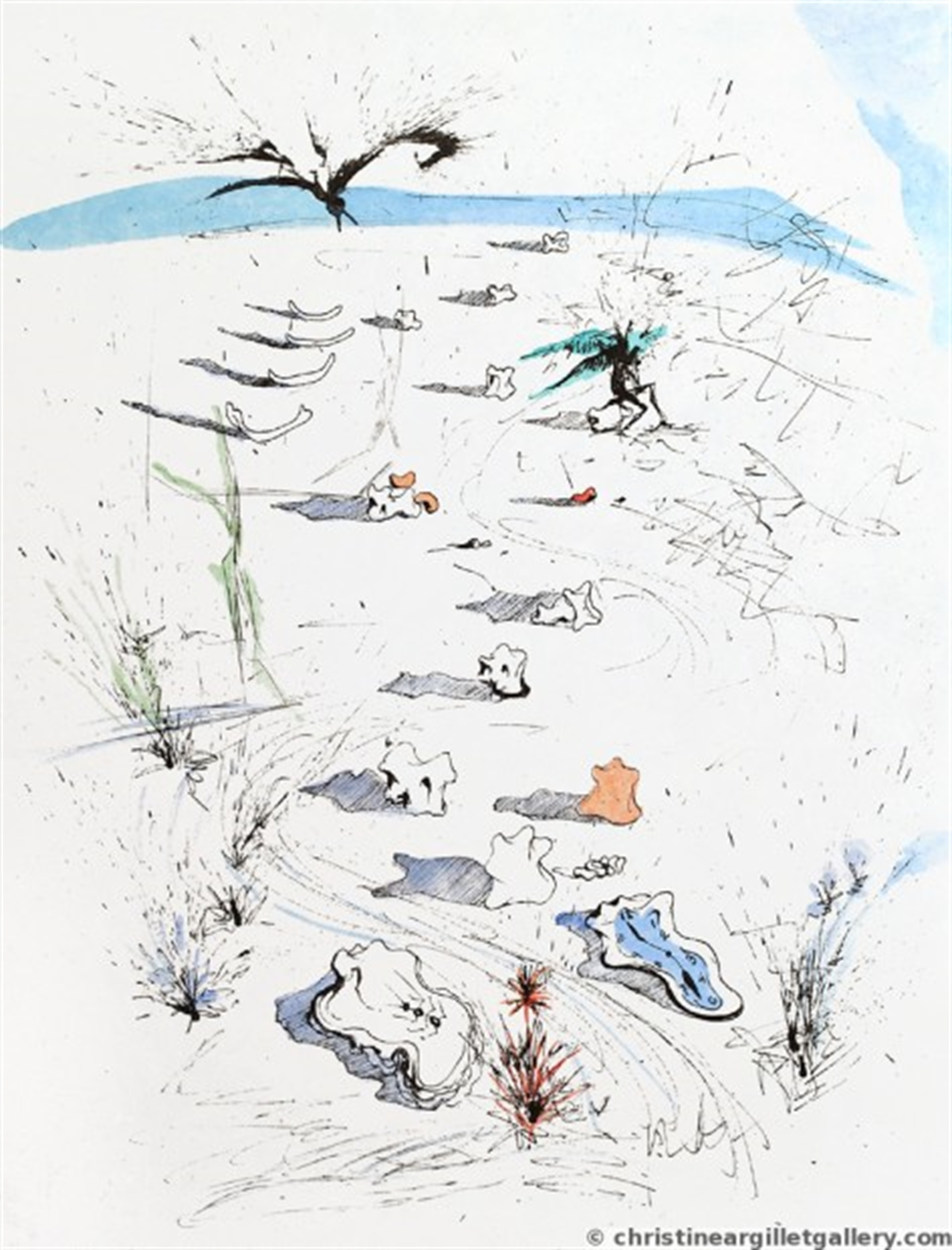 "Apollinaire ""Trenches"" by Salvador Dali"