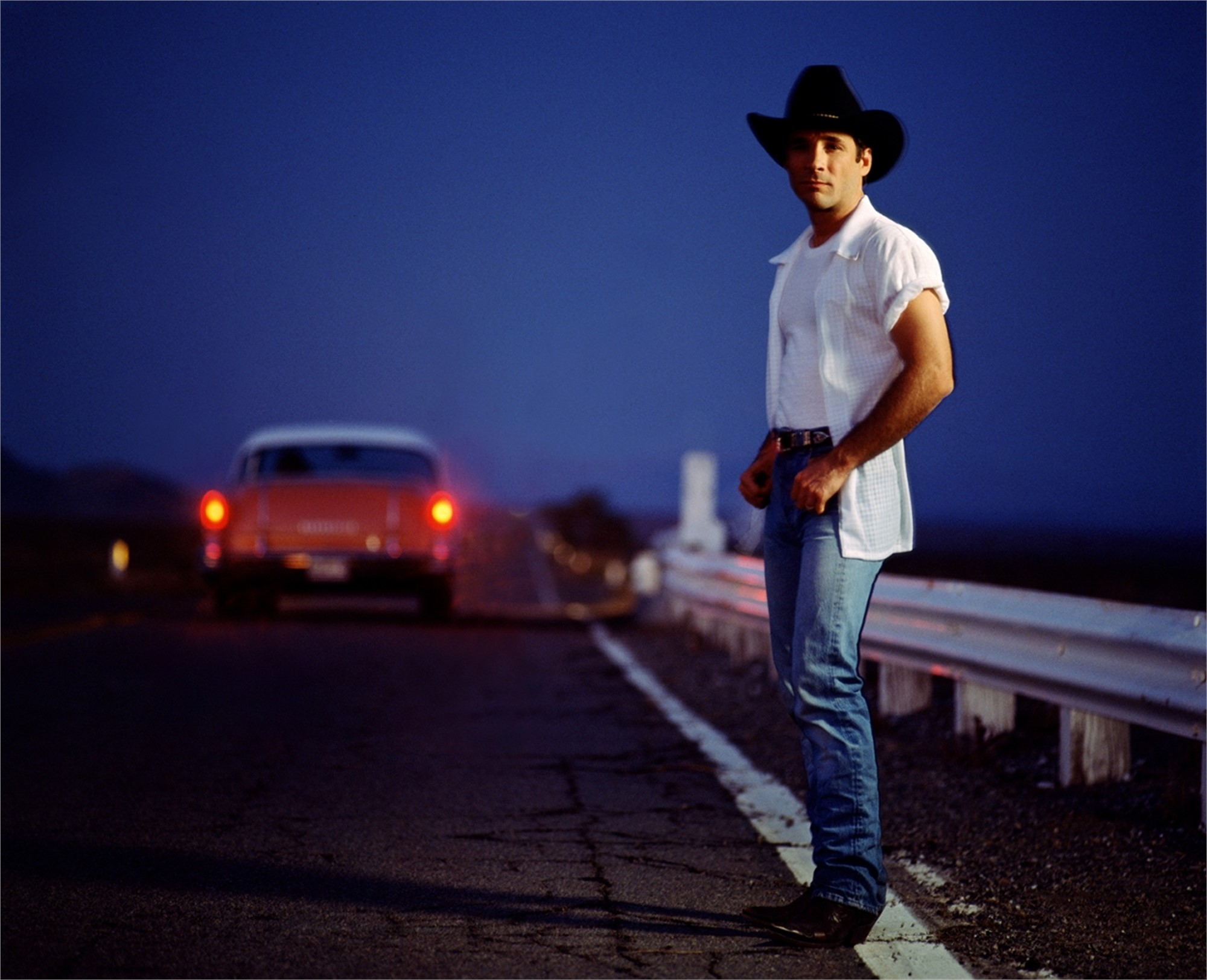 97035 Clint Black On the Highway with Car Color by Timothy White