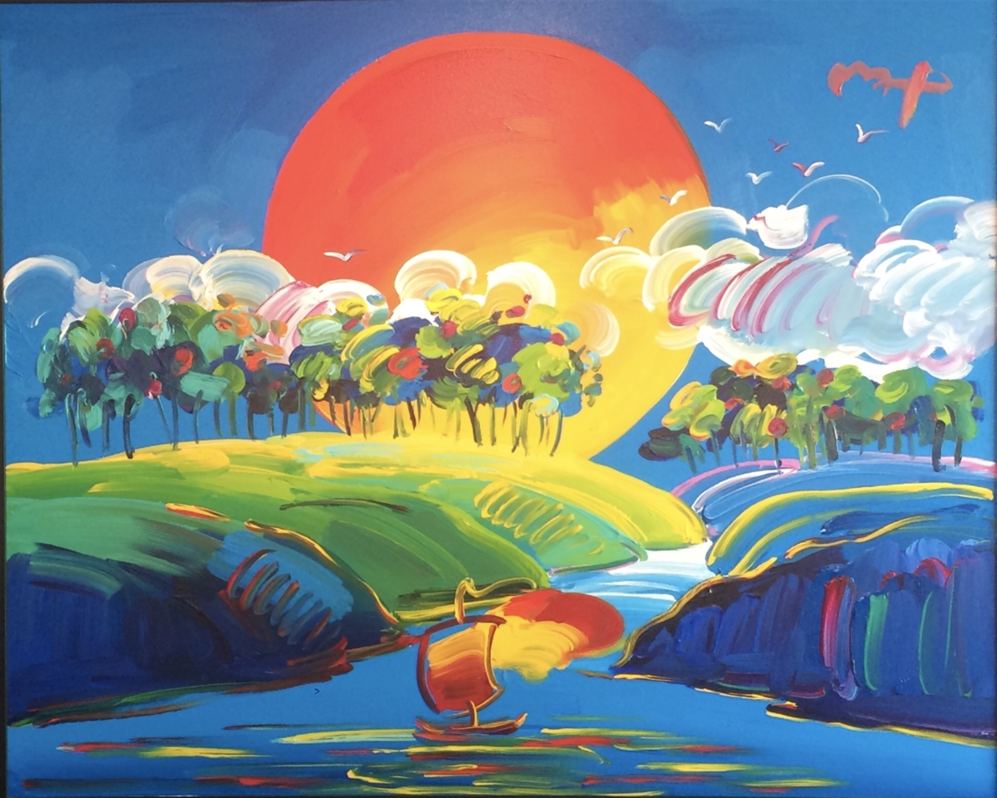 Without Borders - Available as Commission by Peter Max