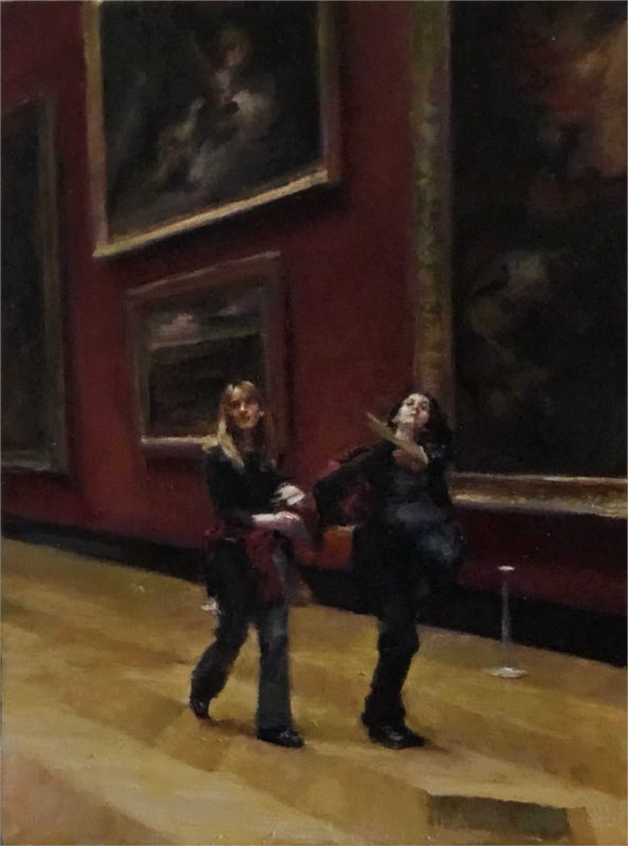 Louvre Two Girls Walking by Shang Ding