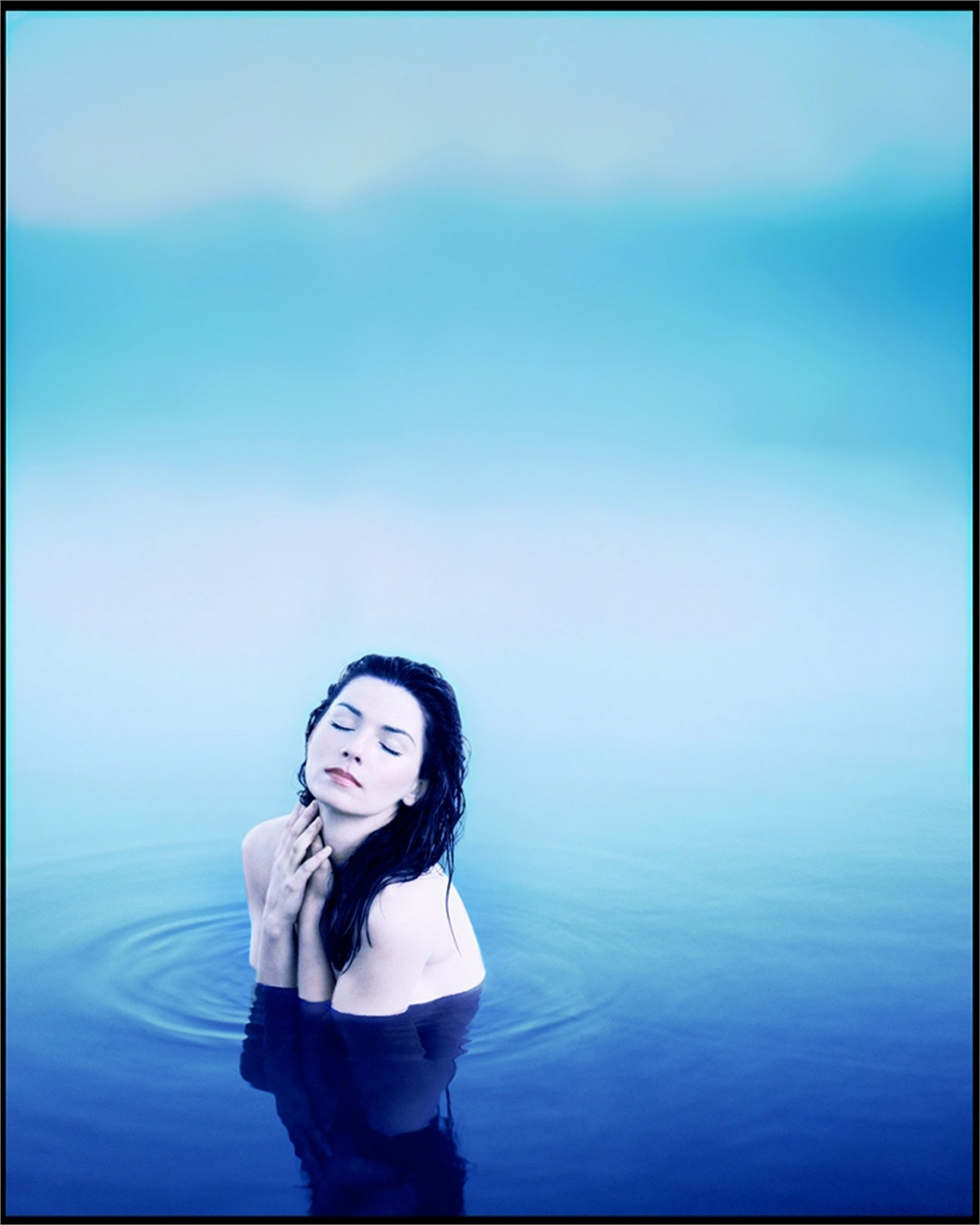 97058 Shania Twain Blue Water Color by Timothy White