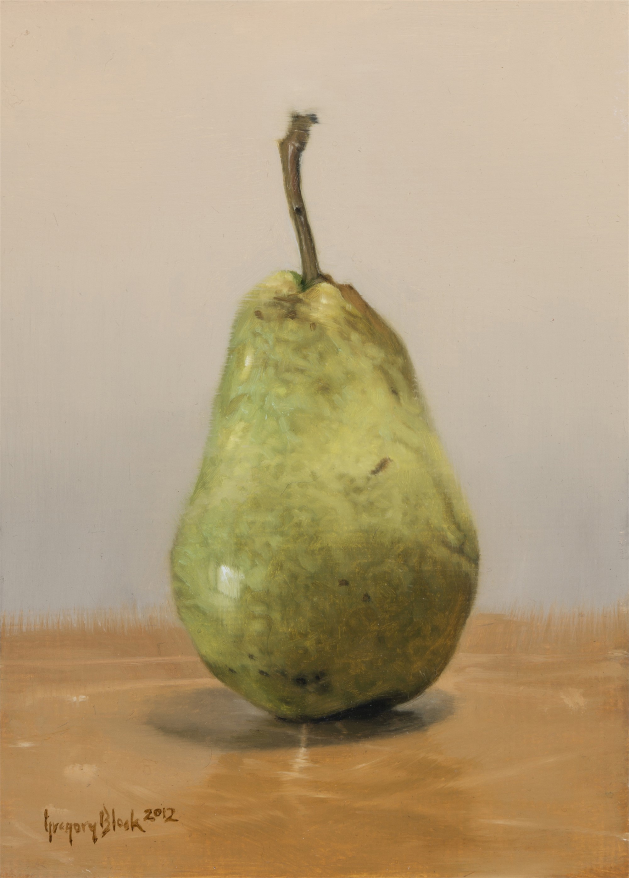 Green Pear by Gregory Block
