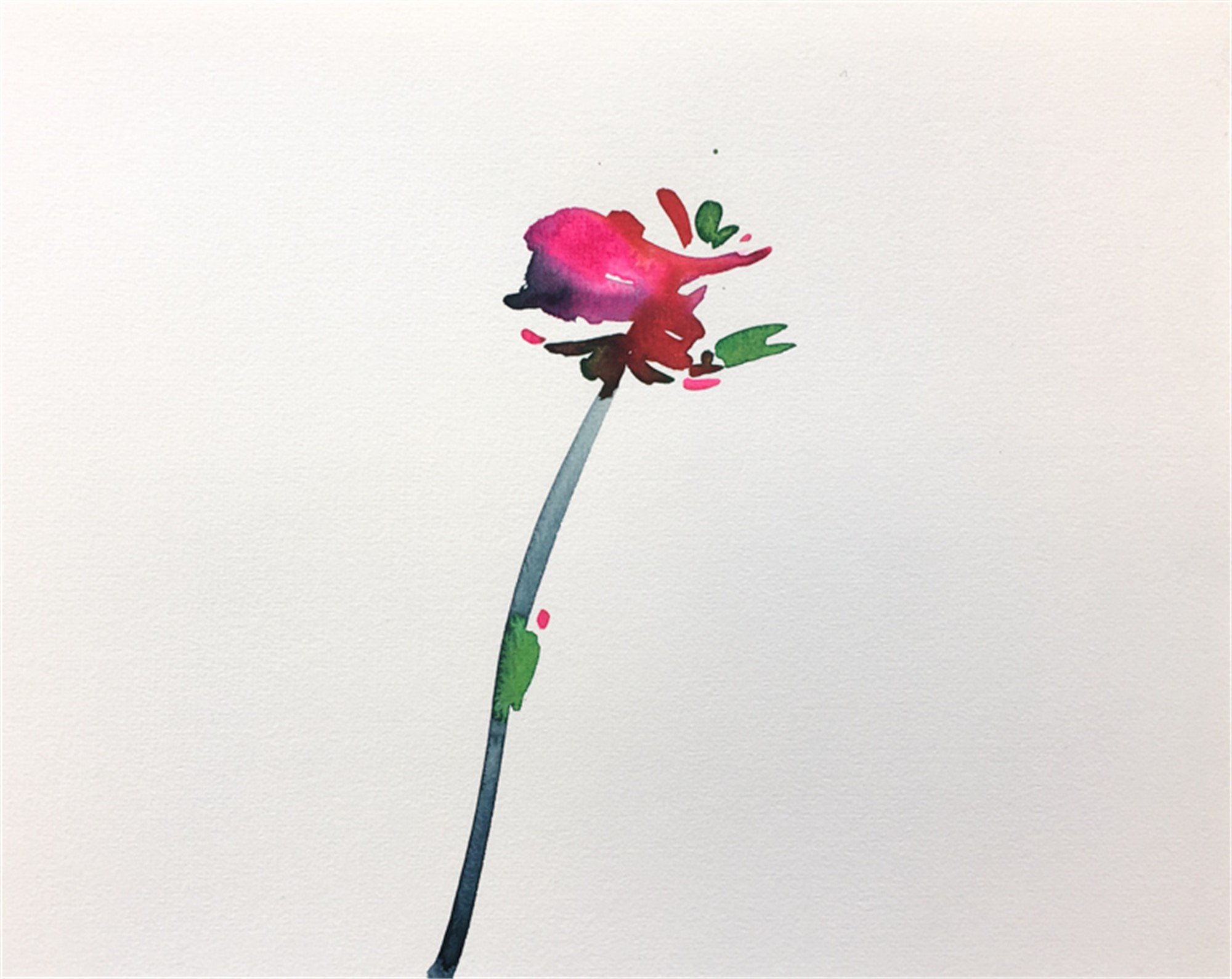 Floral Watercolor No. 10 by Christian Rothmann