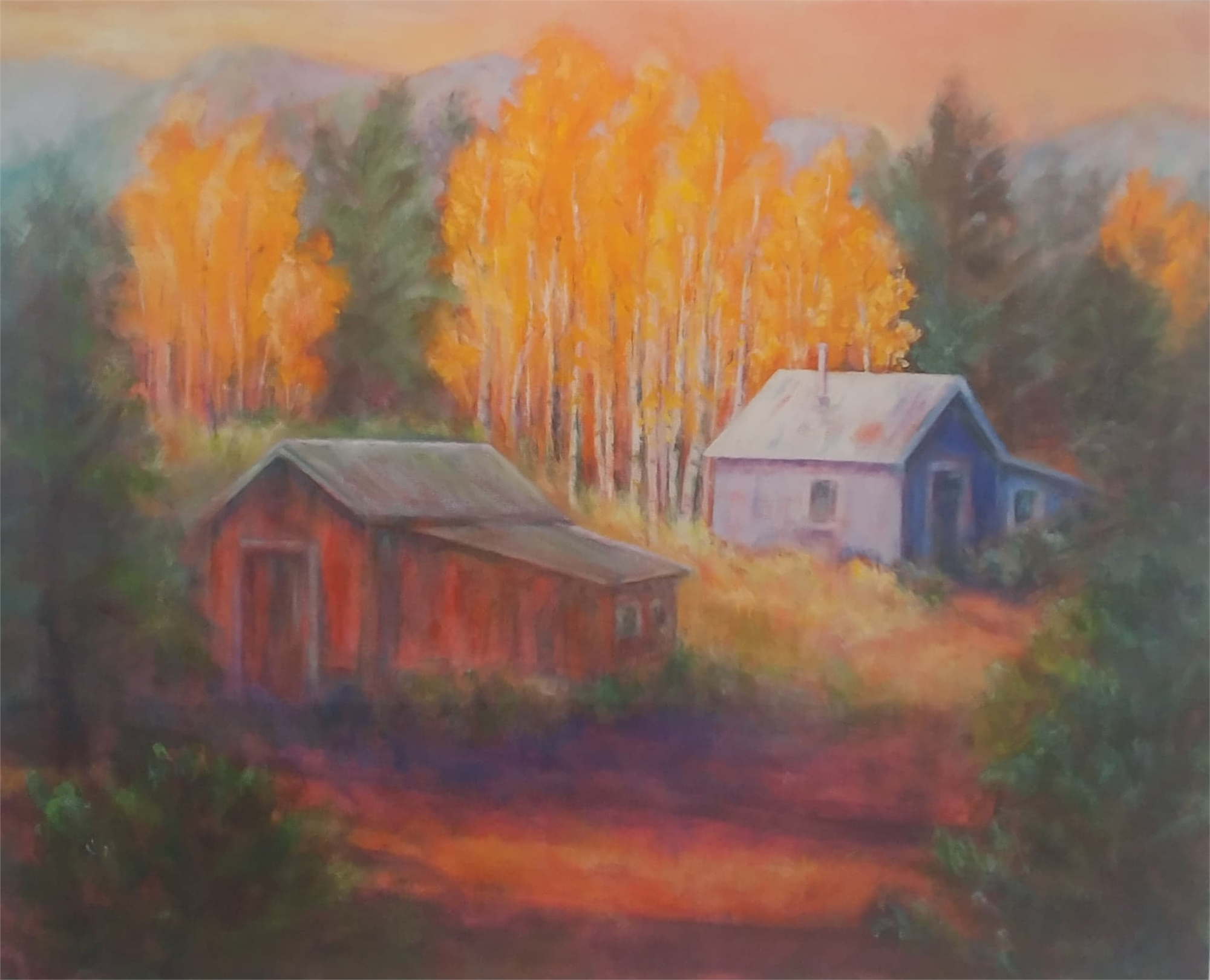 Blue Cottage by Joan Pechanec (McMinnville, OR)