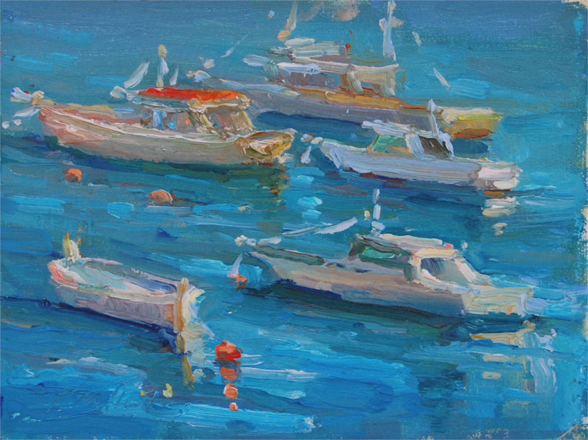 Harbor in Amalfi by Karen Hewitt Hagan