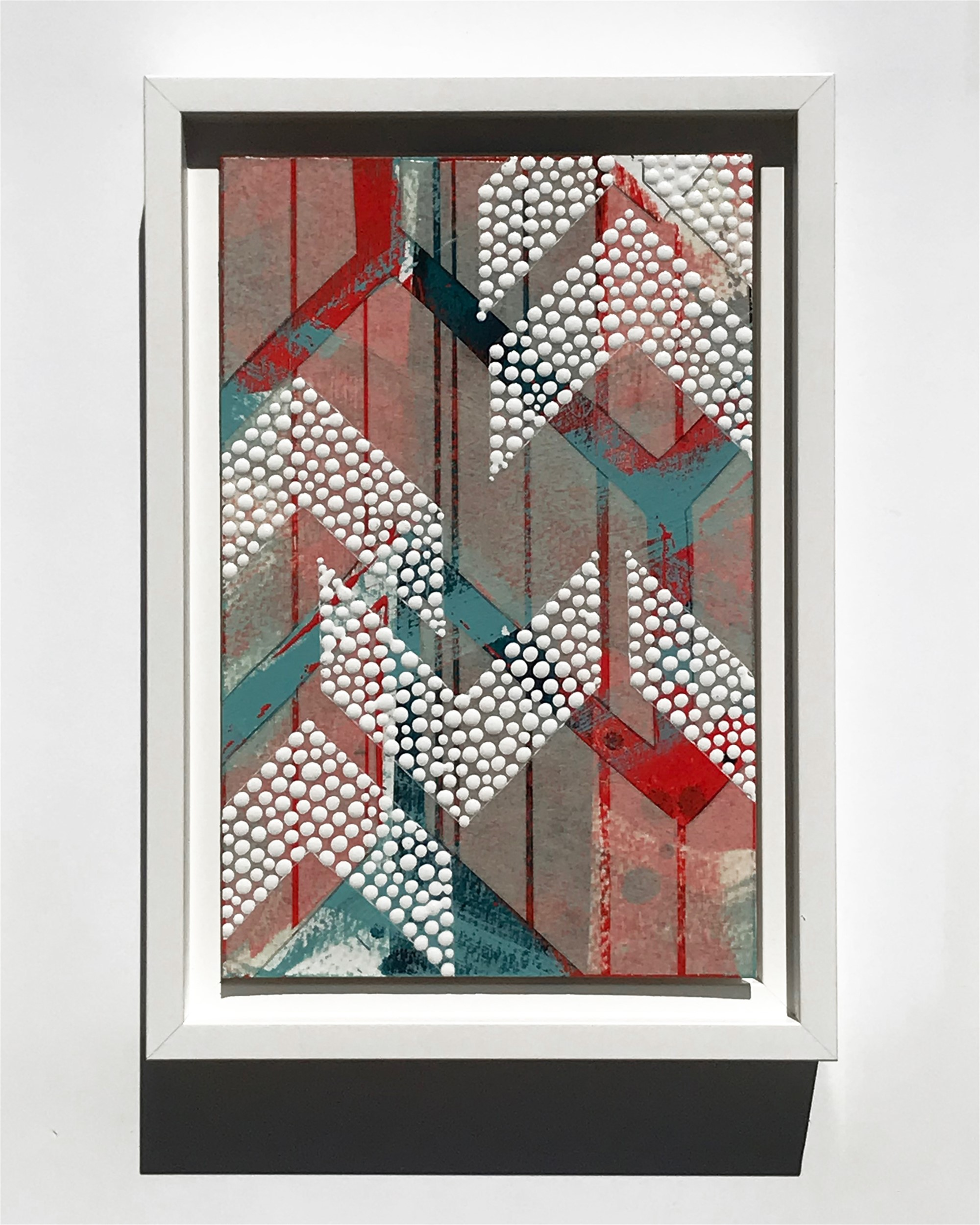 Flannel, Broken Chevron 2, Study No.58 by Nina Tichava