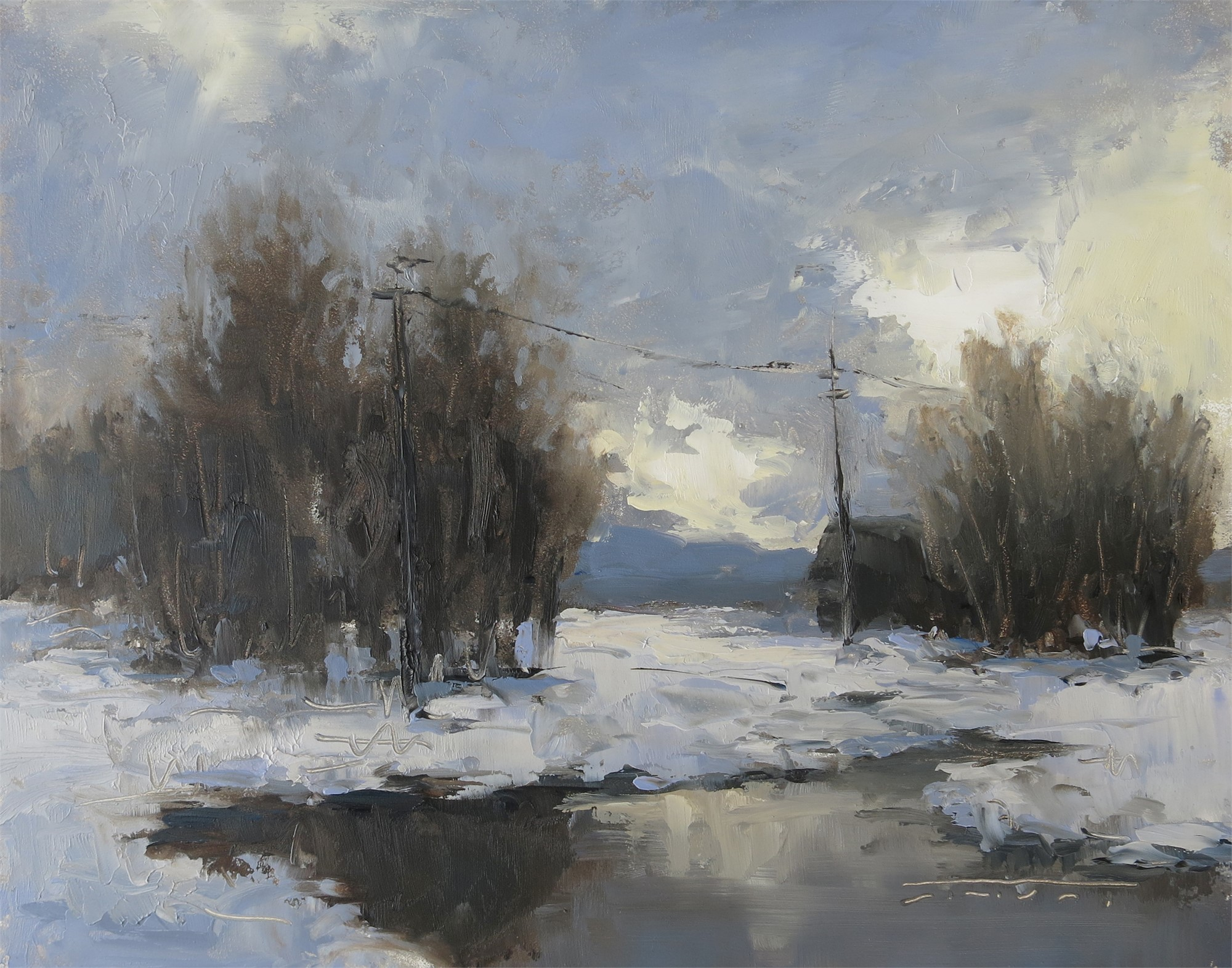 Winter Clouds by Jane Hunt