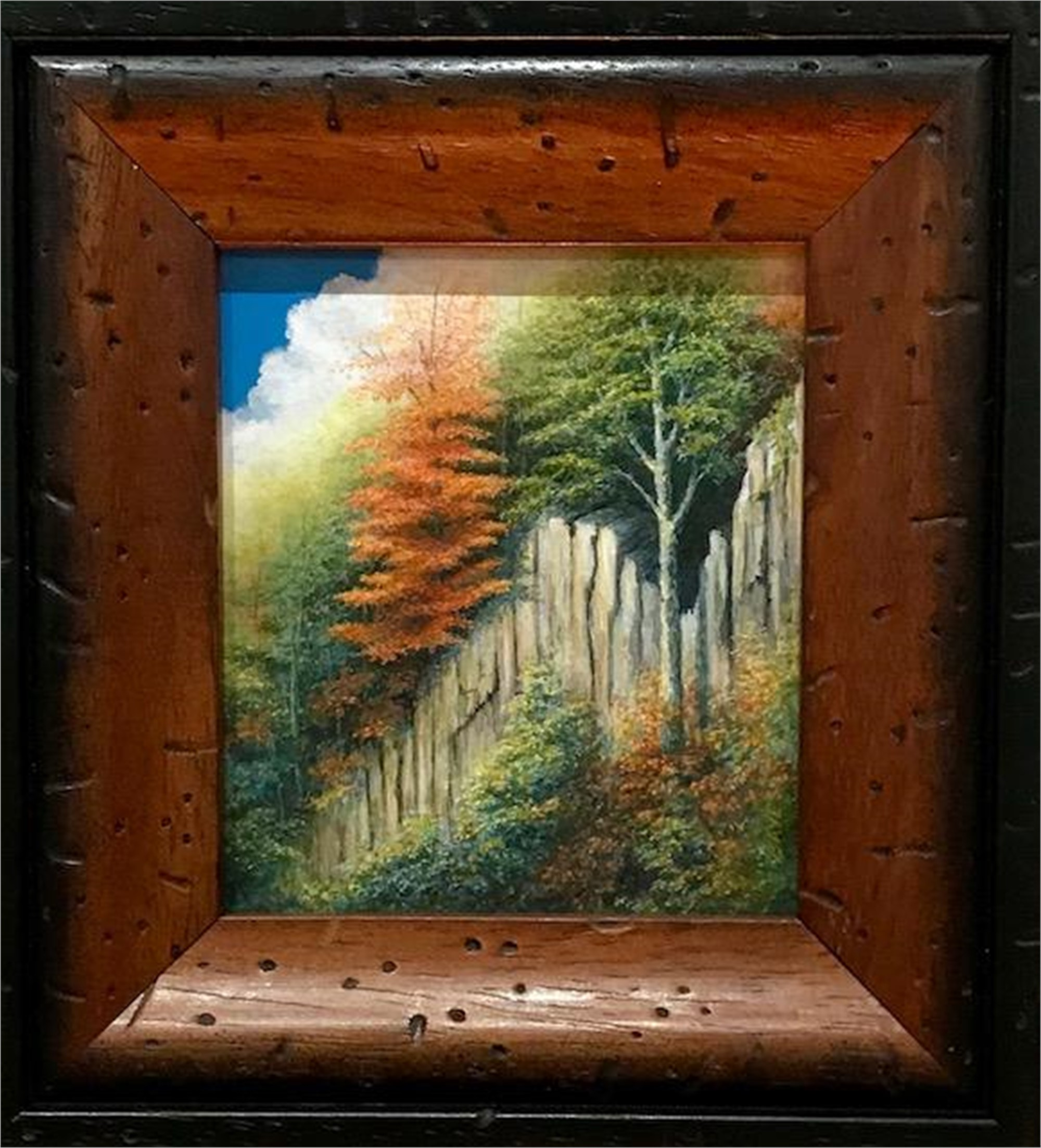 Autumn Rising - Miniature Painting by Judith Edgington Bayes