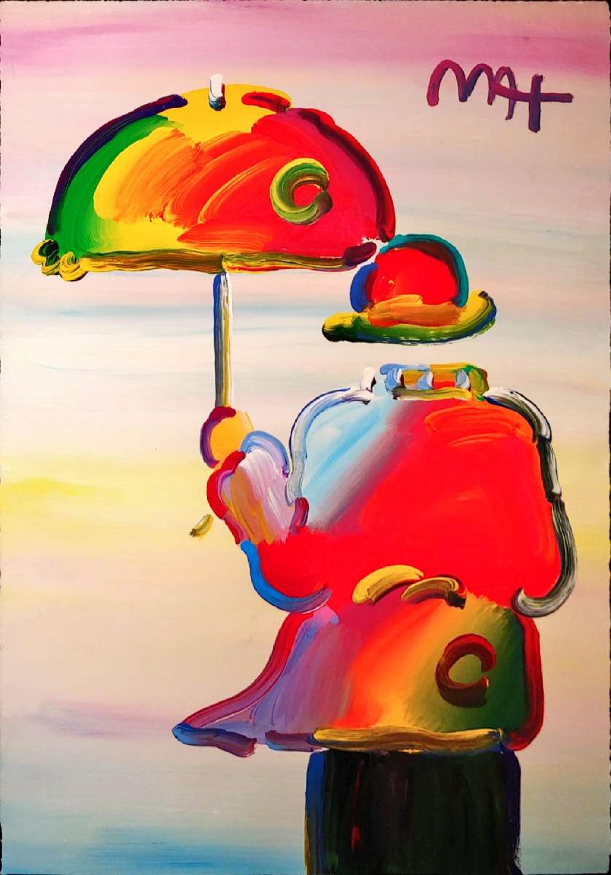 UMBRELLA MAN ON BLEND by Peter Max