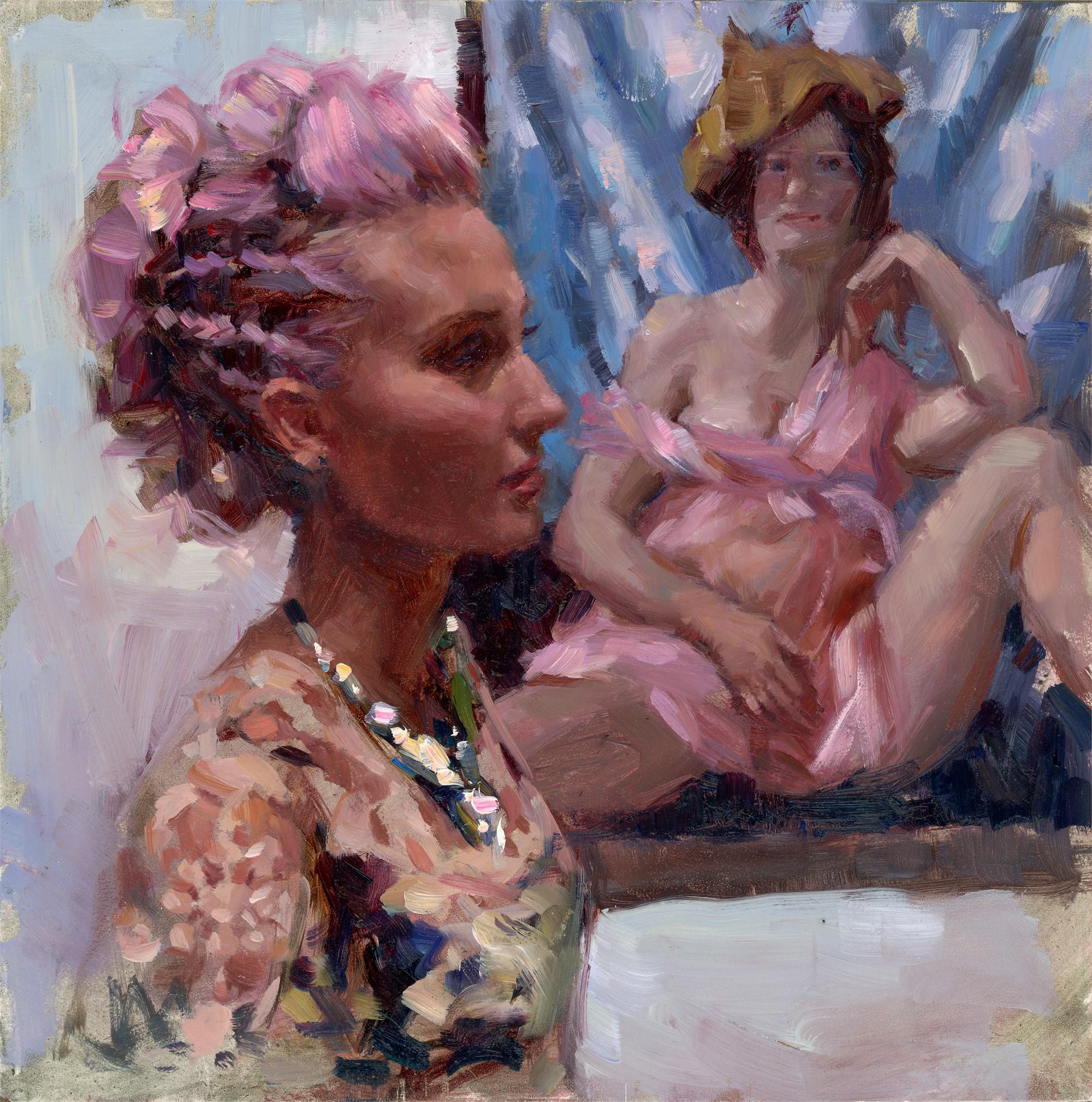 Lilac Code (Self Portrait Currin) by Natalia Fabia