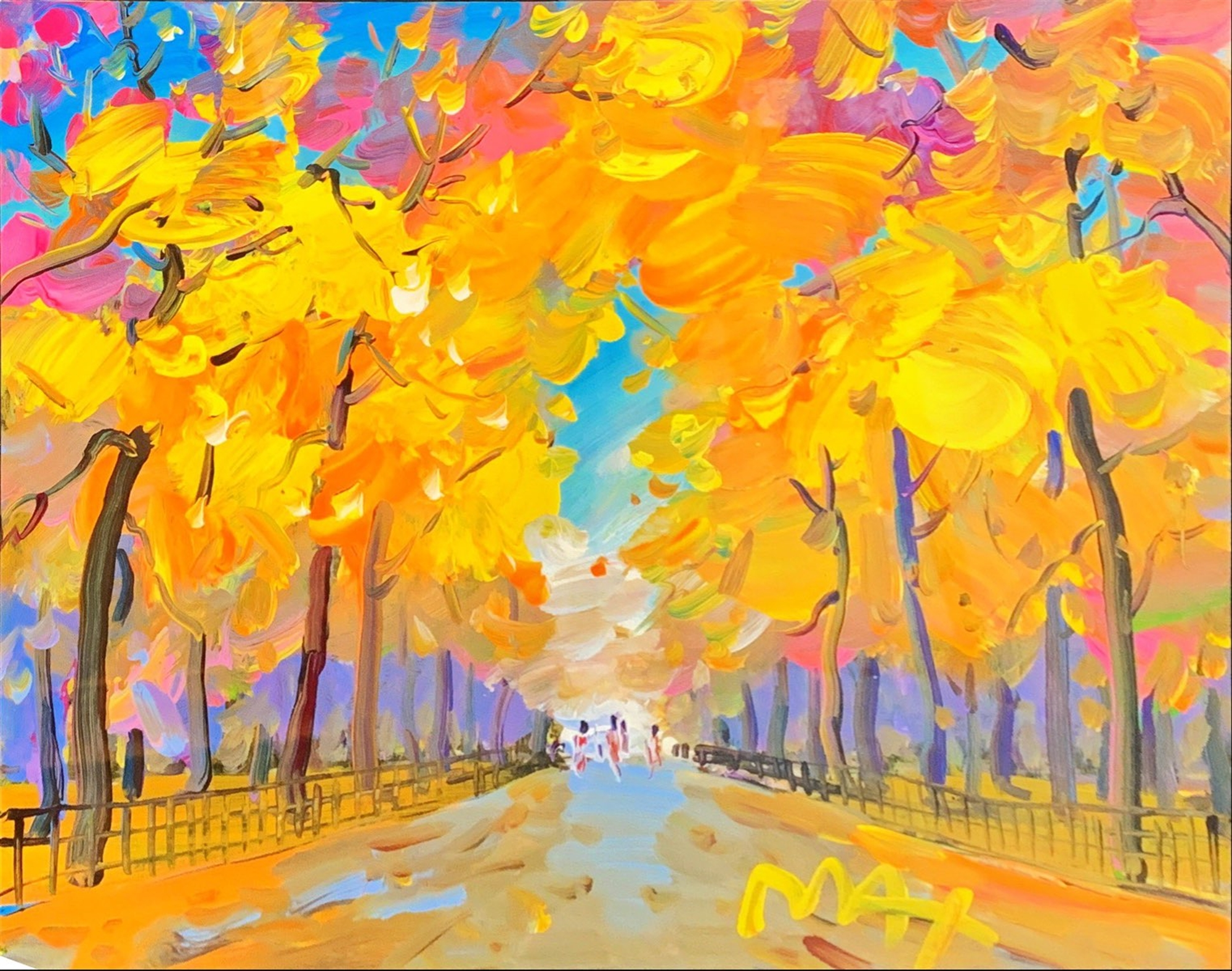 Four Seasons II: Autumn (Central Park) by Peter Max