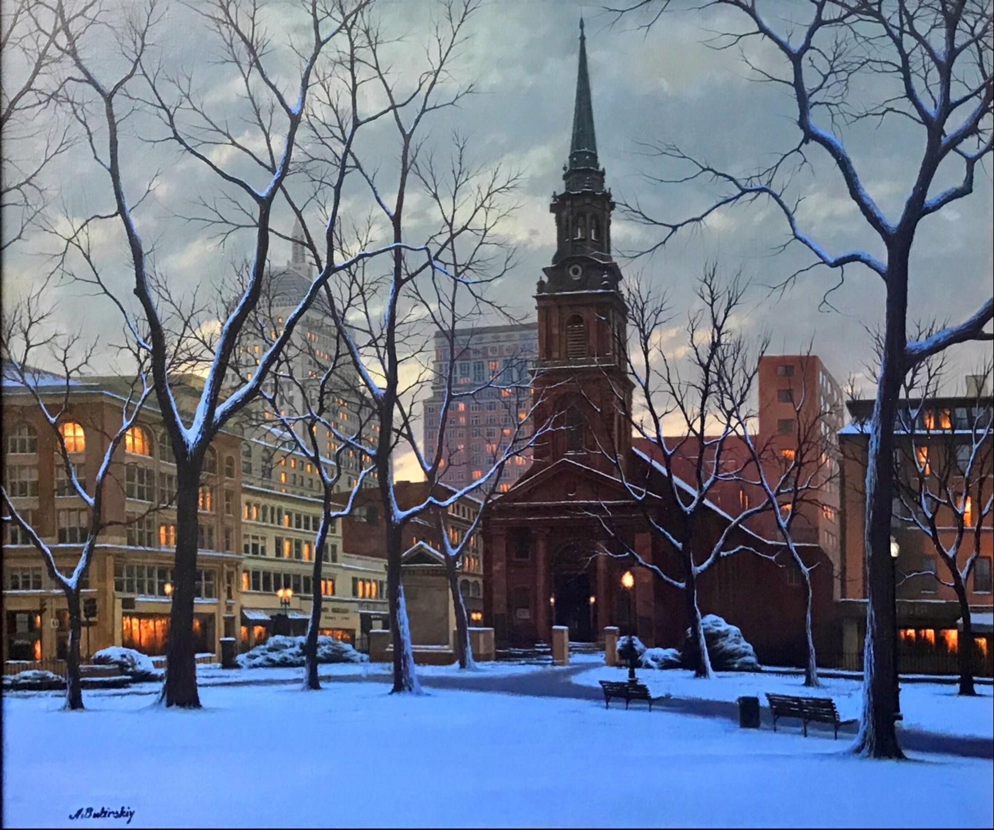 Arlington Church Snowfall by Alexei Butirskiy