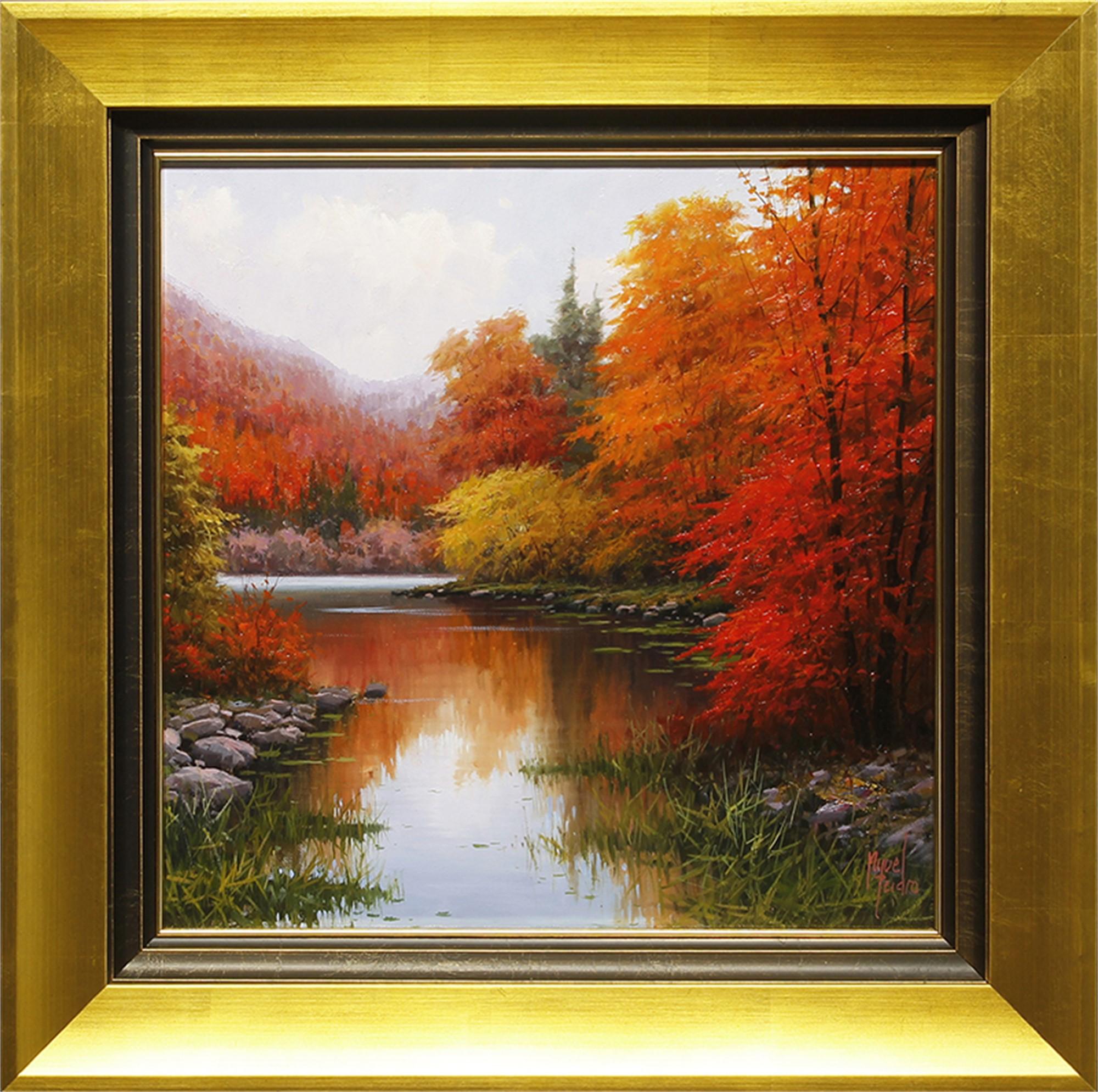 Garona River in Autumn by Miguel Peidro