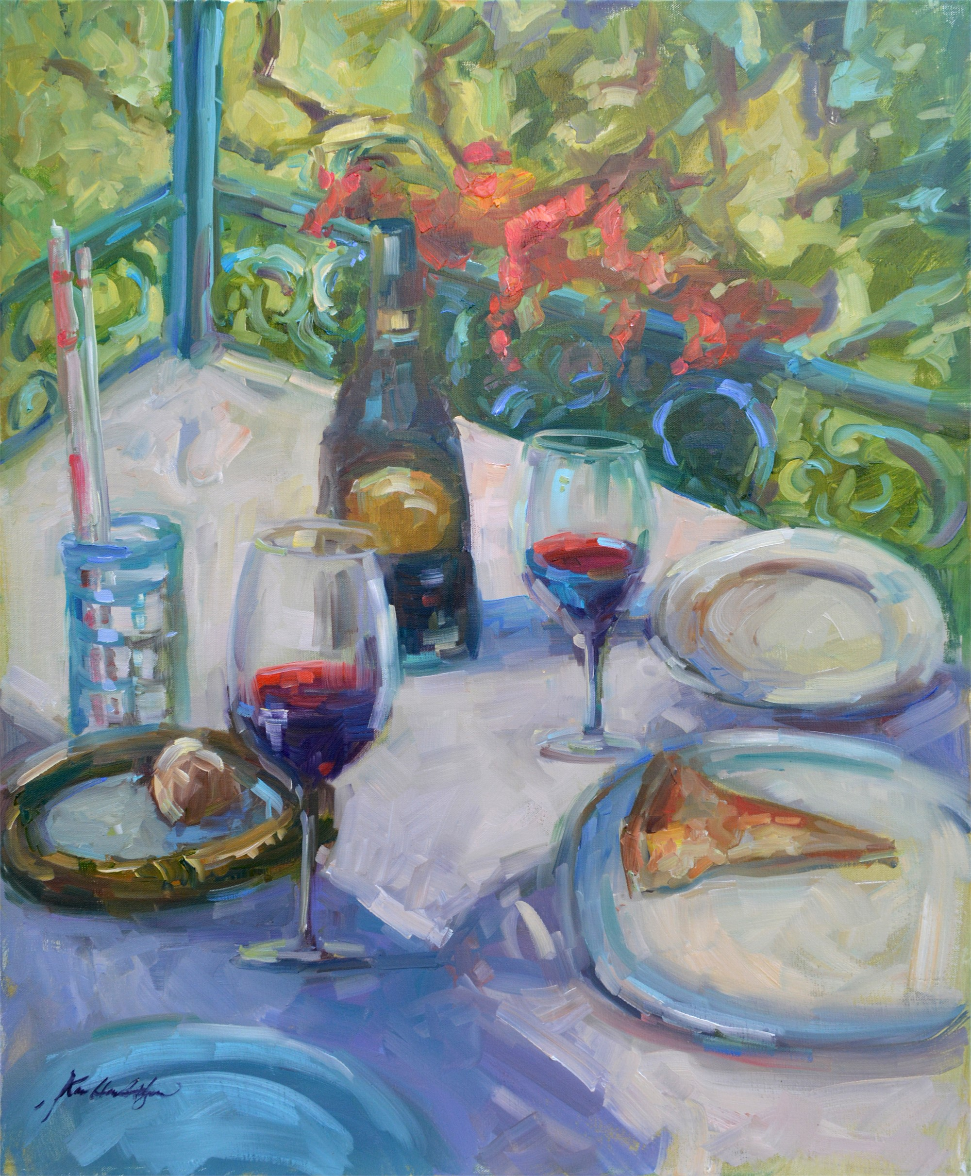 Long Lunch at Lake Como by Karen Hewitt Hagan