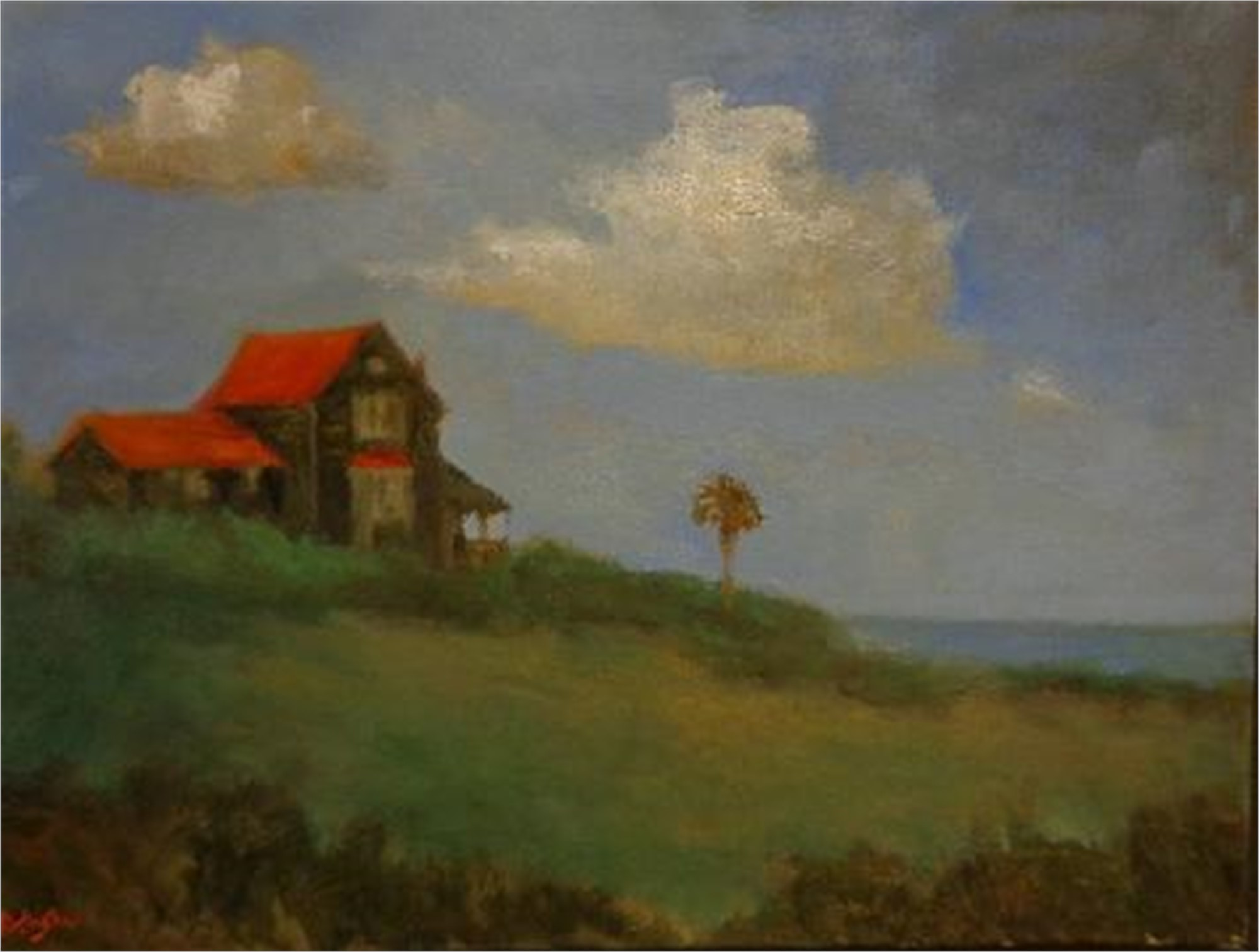 House Beside Sea-Porpoise Point by Jim Darlington
