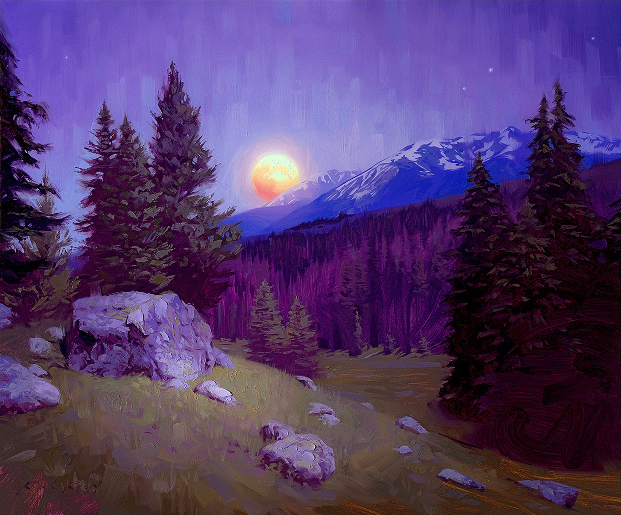 Mountain Moonrise by Rob Rey