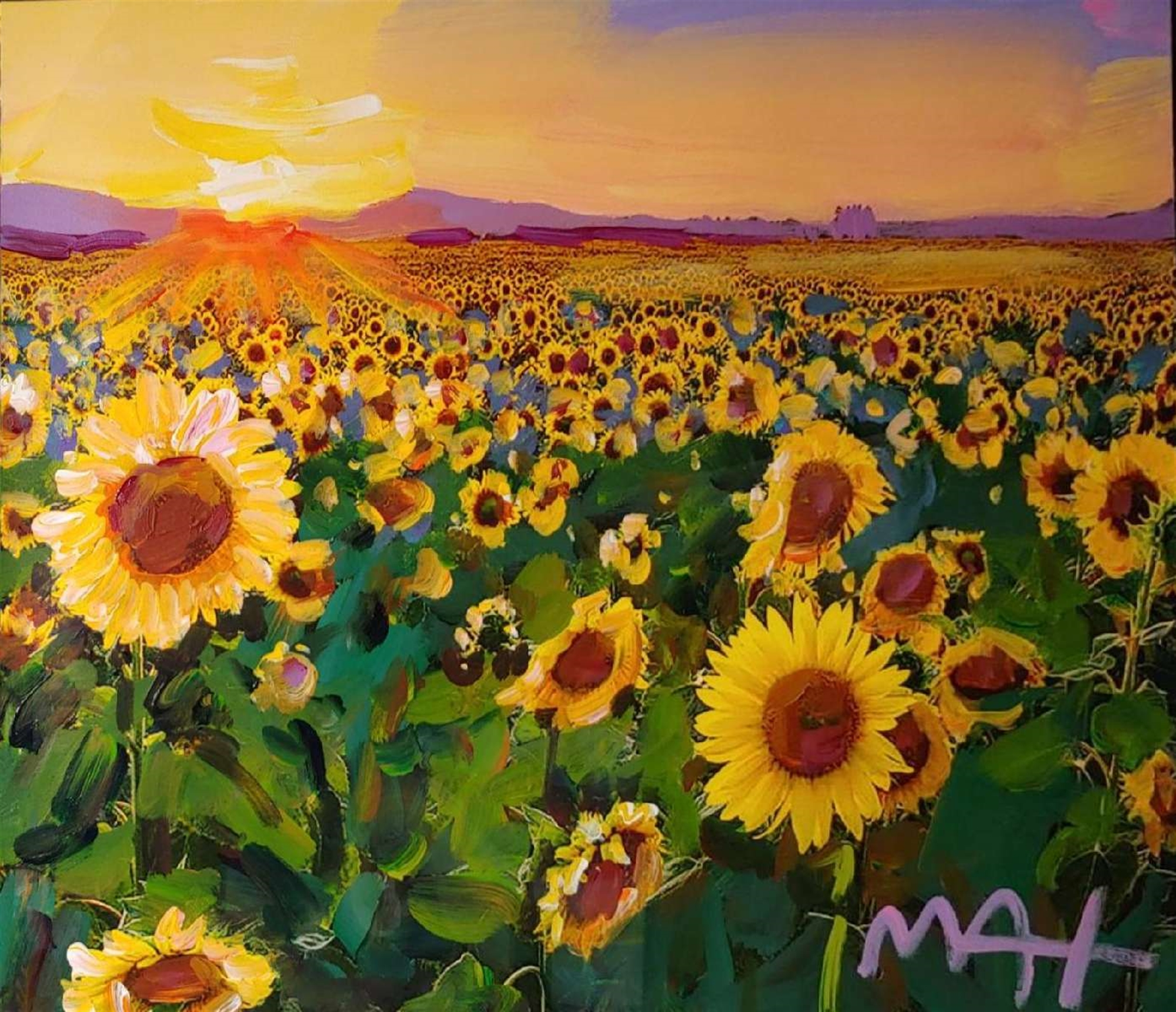 SUNFLOWER by Peter Max
