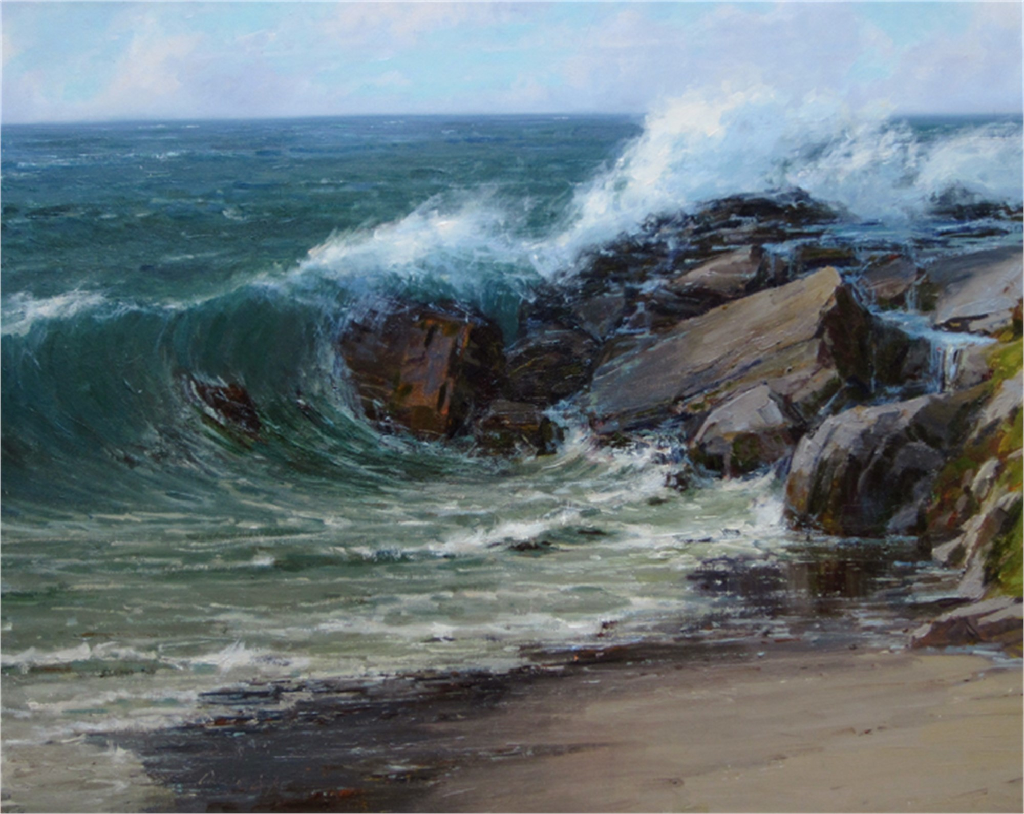 Shore Break by Carole Cooke