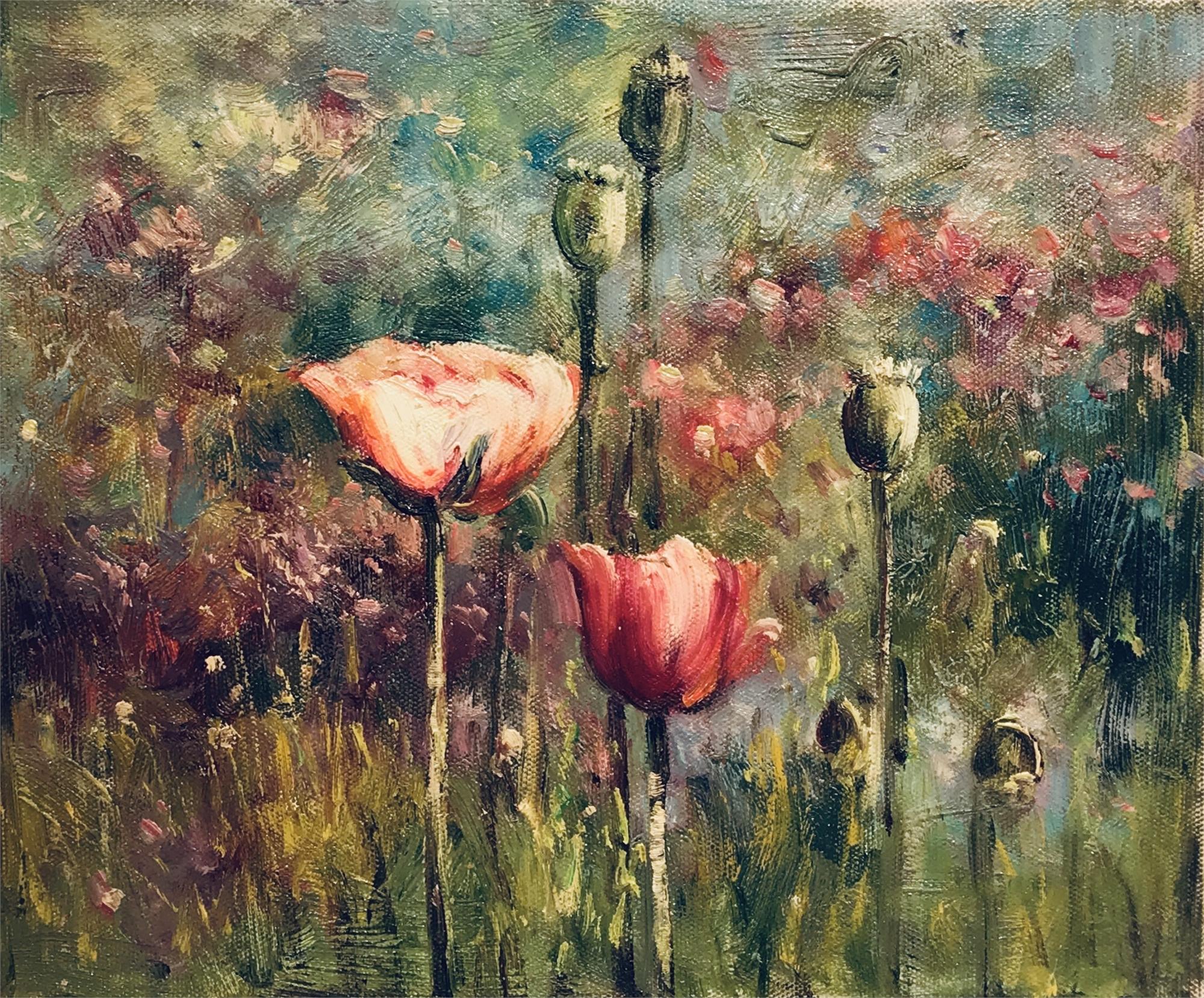 FLOWERS IN EARLY BLOOM by VARIOUS WORKS