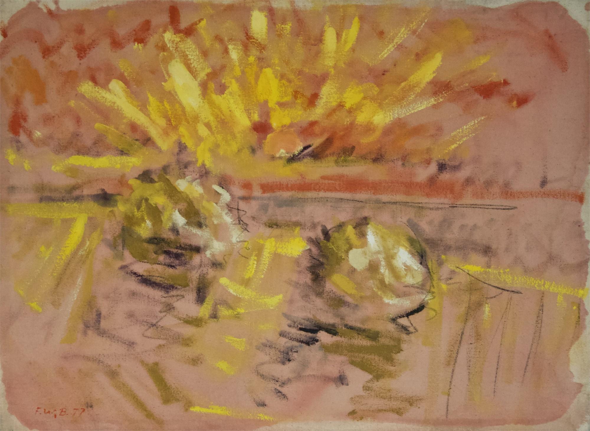 Haystacks by Freeman W. Butts (1928-1998)