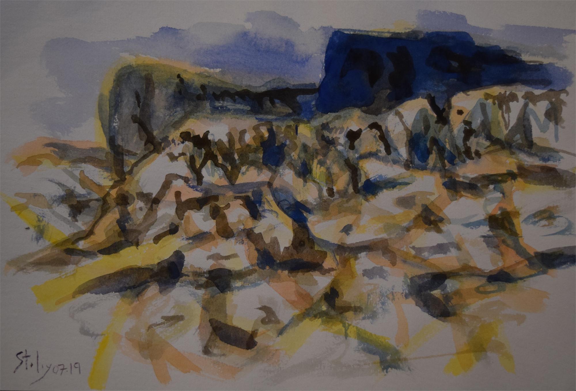 Western Landscape by Earl Staley
