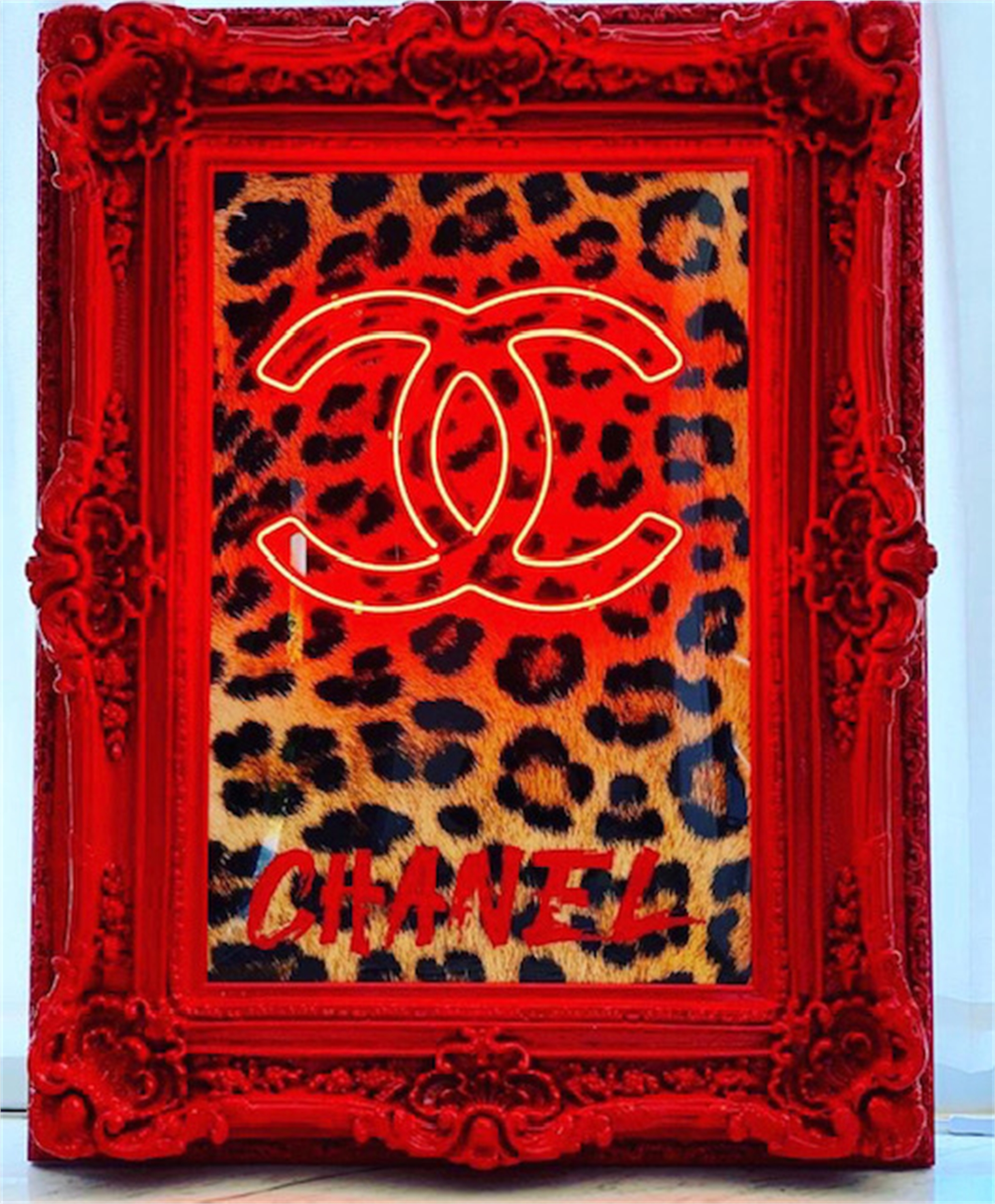 Wild Chanel with Red Frame by Behind Pink Walls