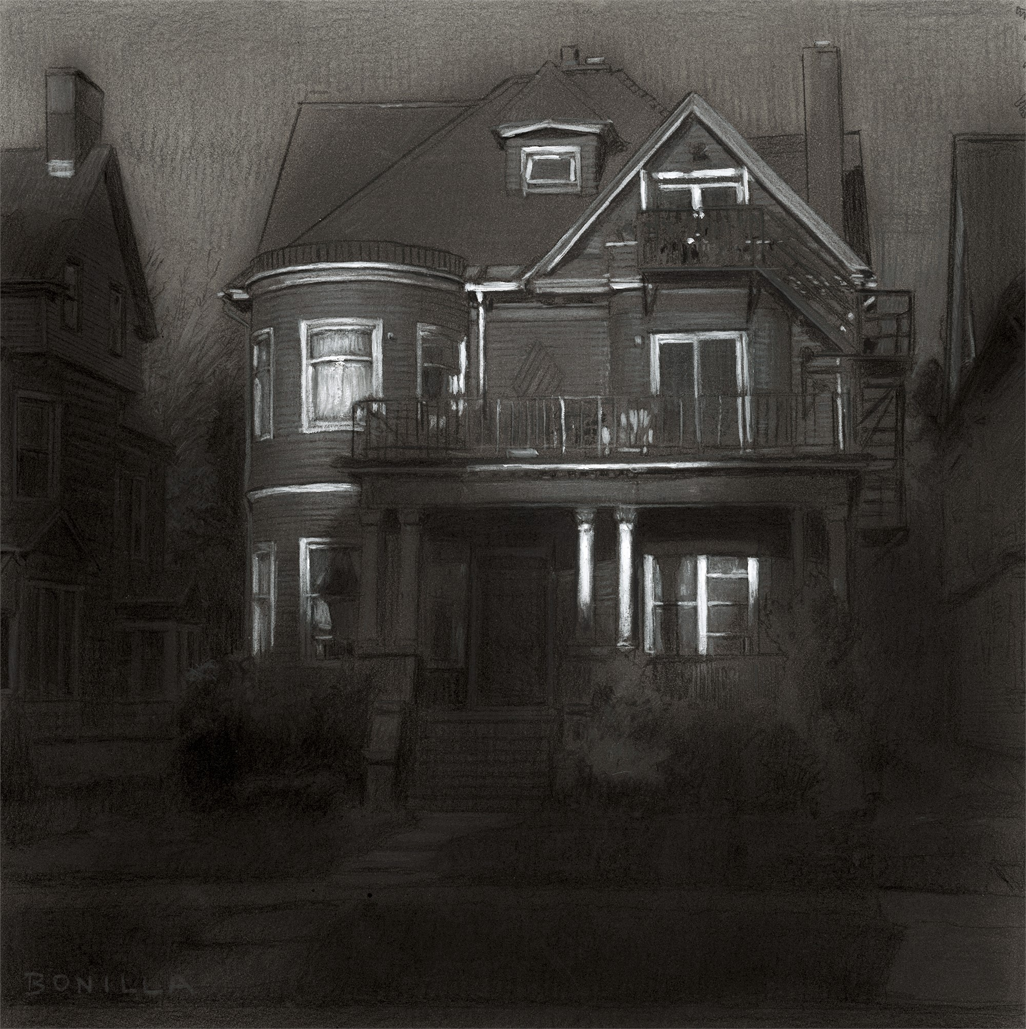 Study for Richmond and 17th by Raymond Bonilla