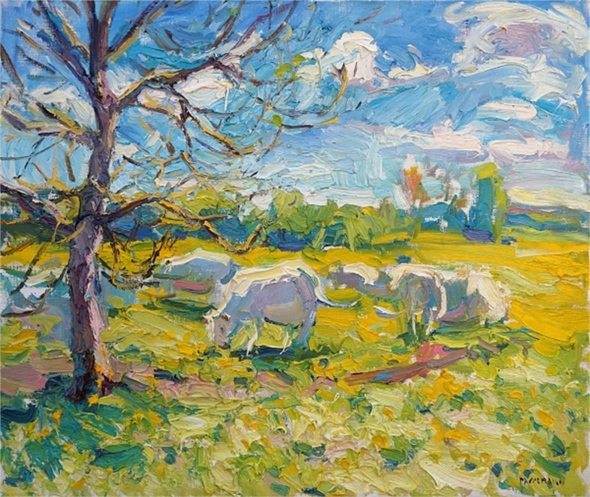 Cows in the Sun by Antonin Passemard