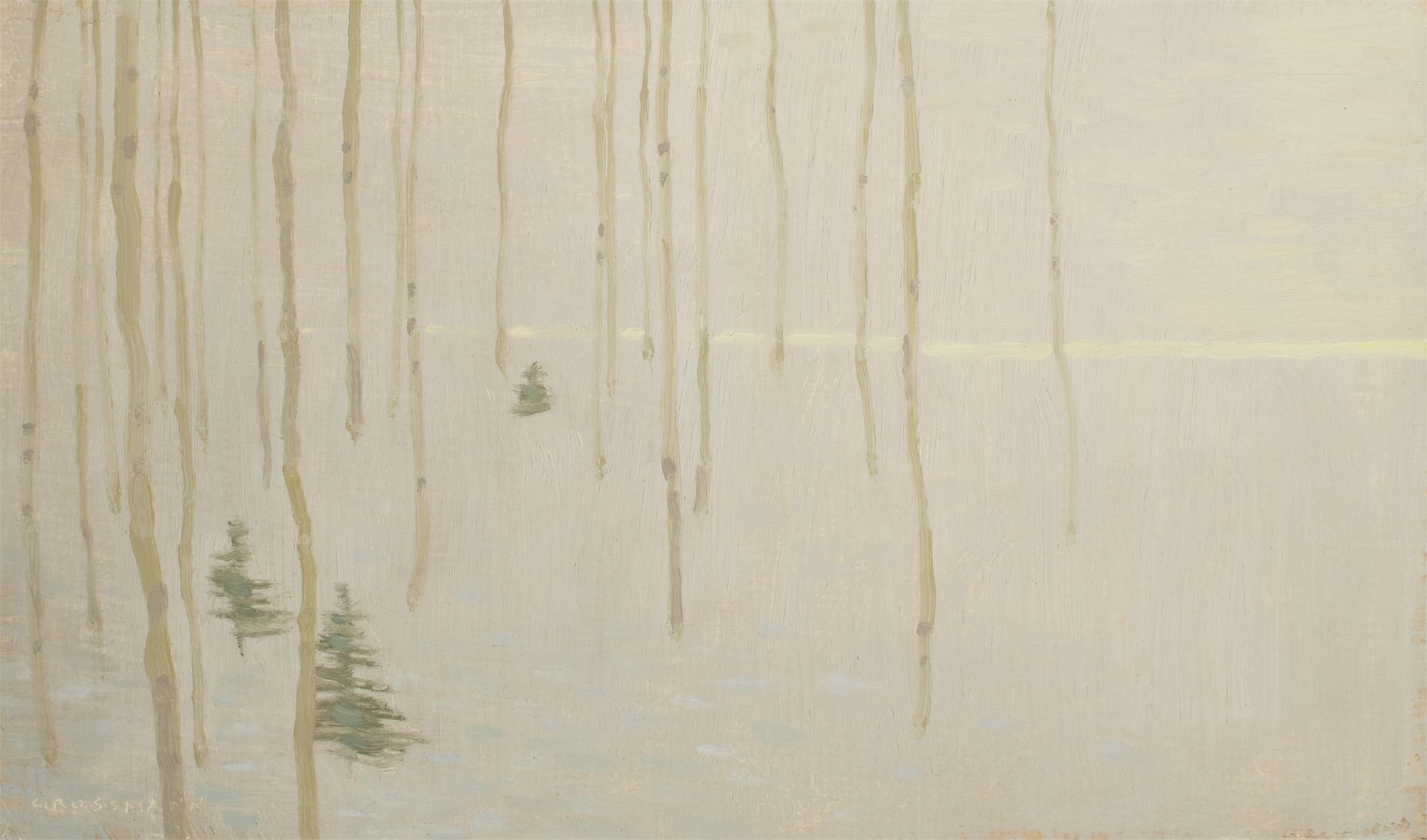 Tree Patterns with Fading Winter Light by David Grossmann
