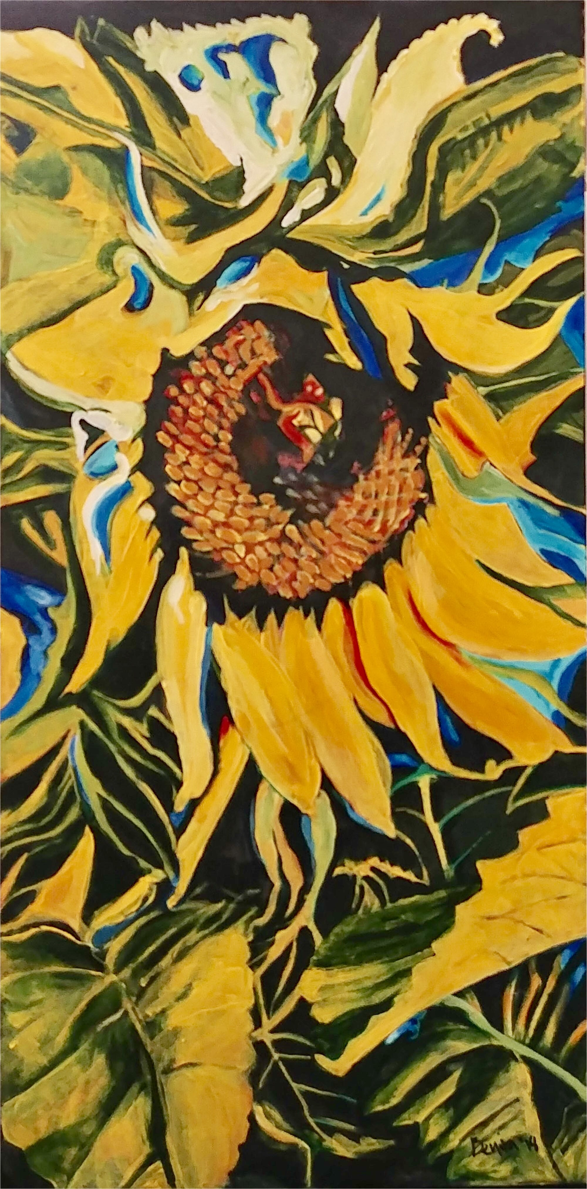 Sunny Sunflower Abstract by Benita Cole (McMinnville, OR)