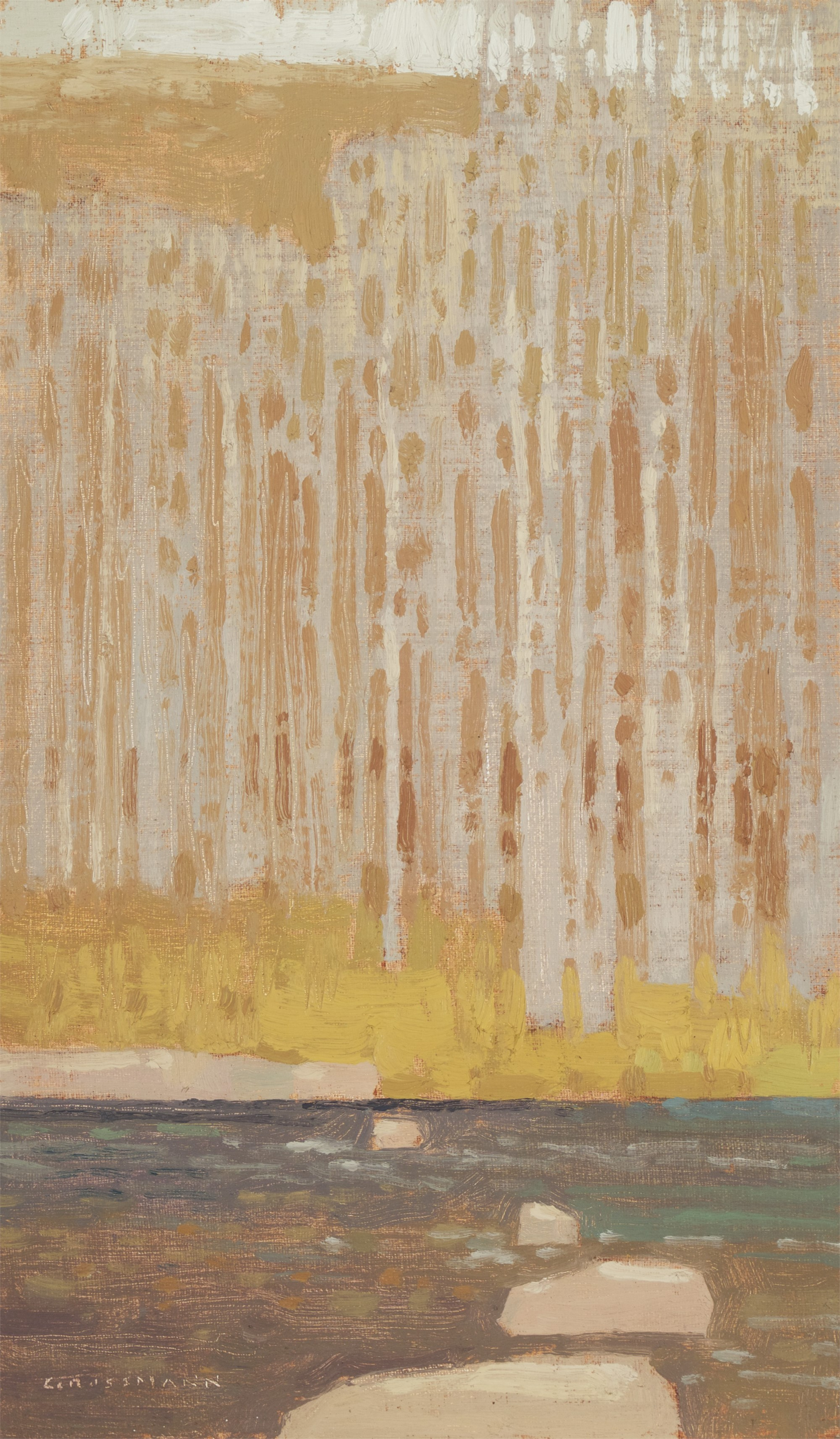 Across the Late Winter Creek by David Grossmann
