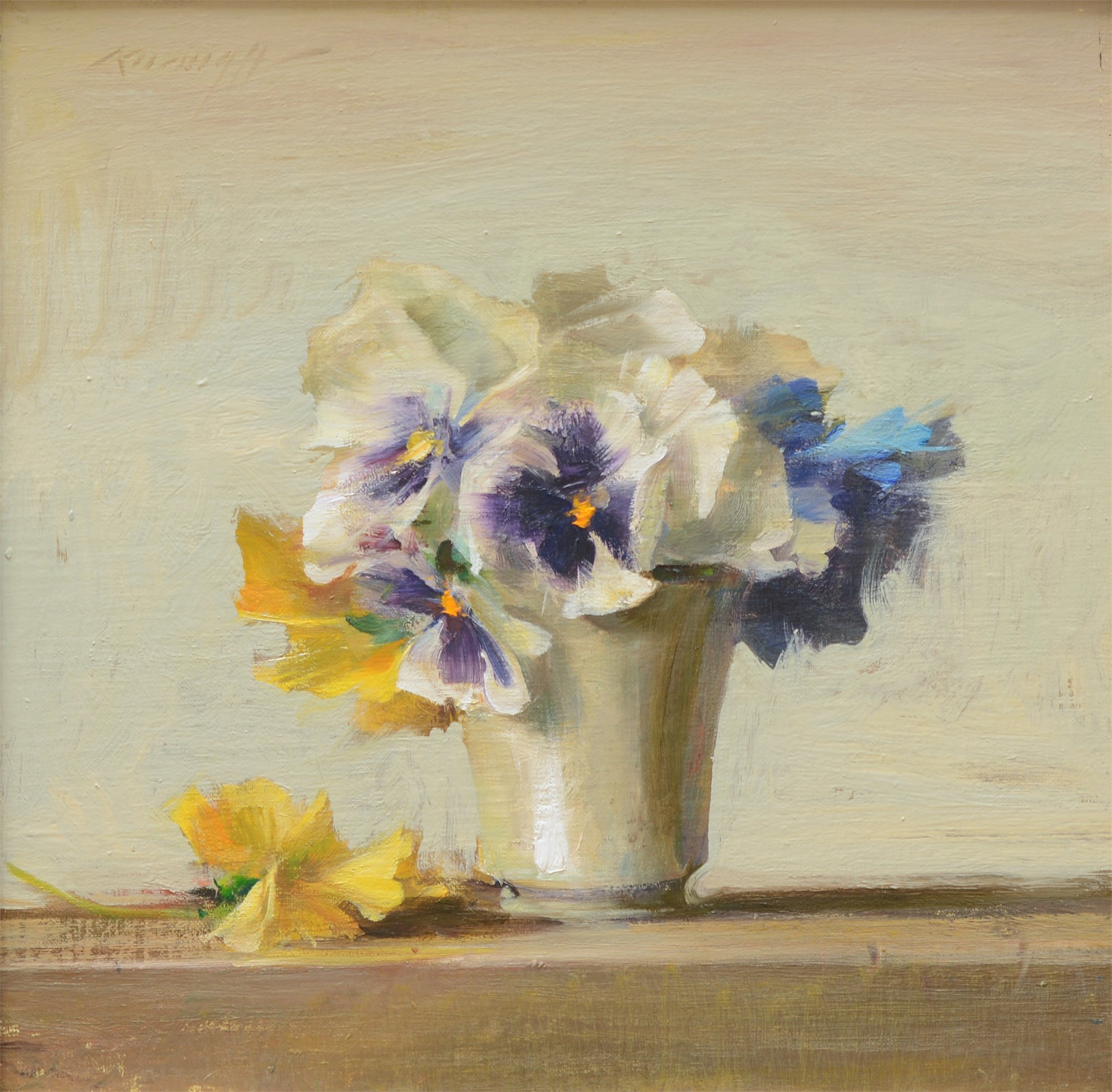 Pansies in White by Quang Ho