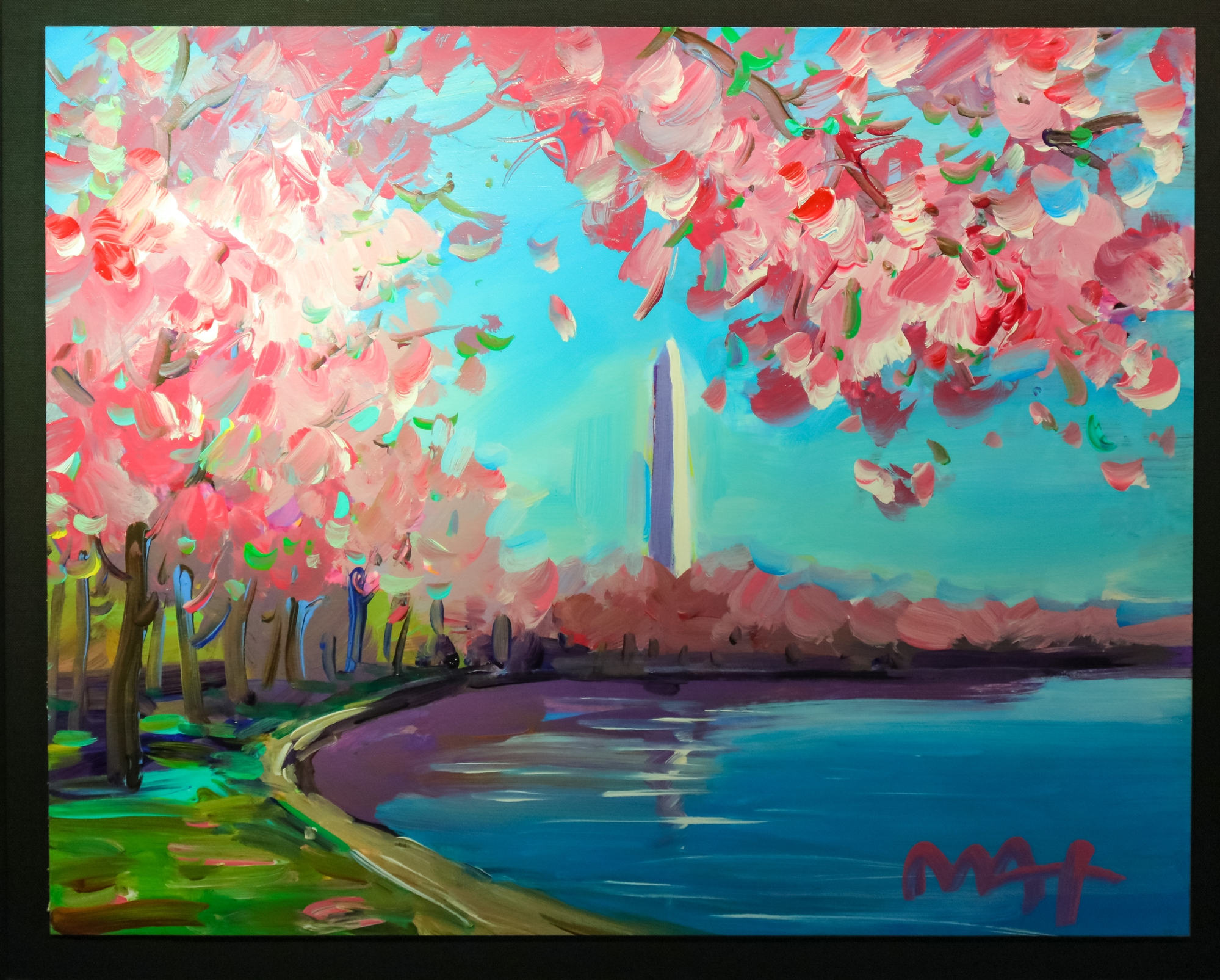 Cherry Blossom by Peter Max