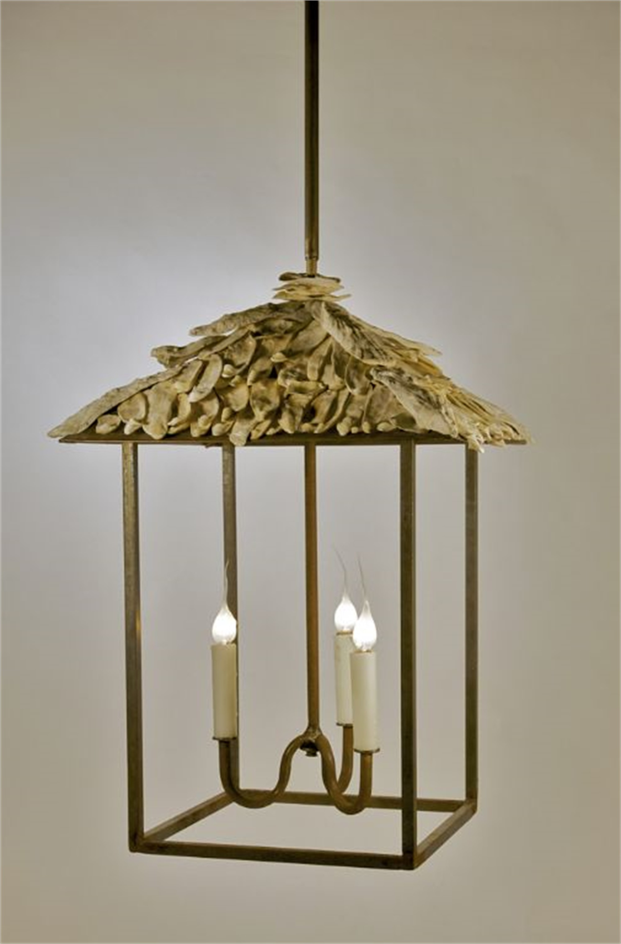 Shell Topped Lantern by Tim Adams Iron-worker