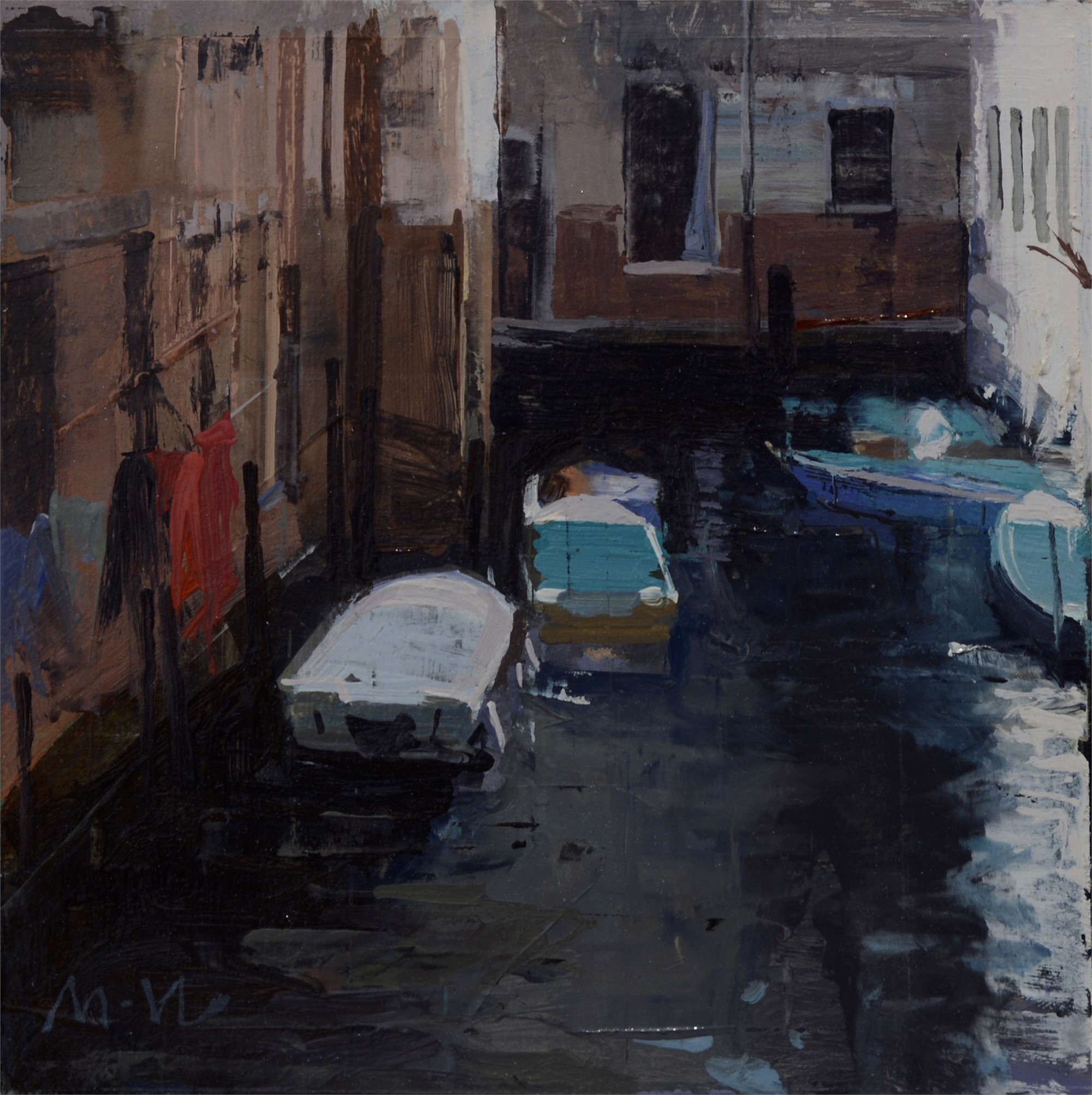 Canal Sketch 2 by Michael Workman