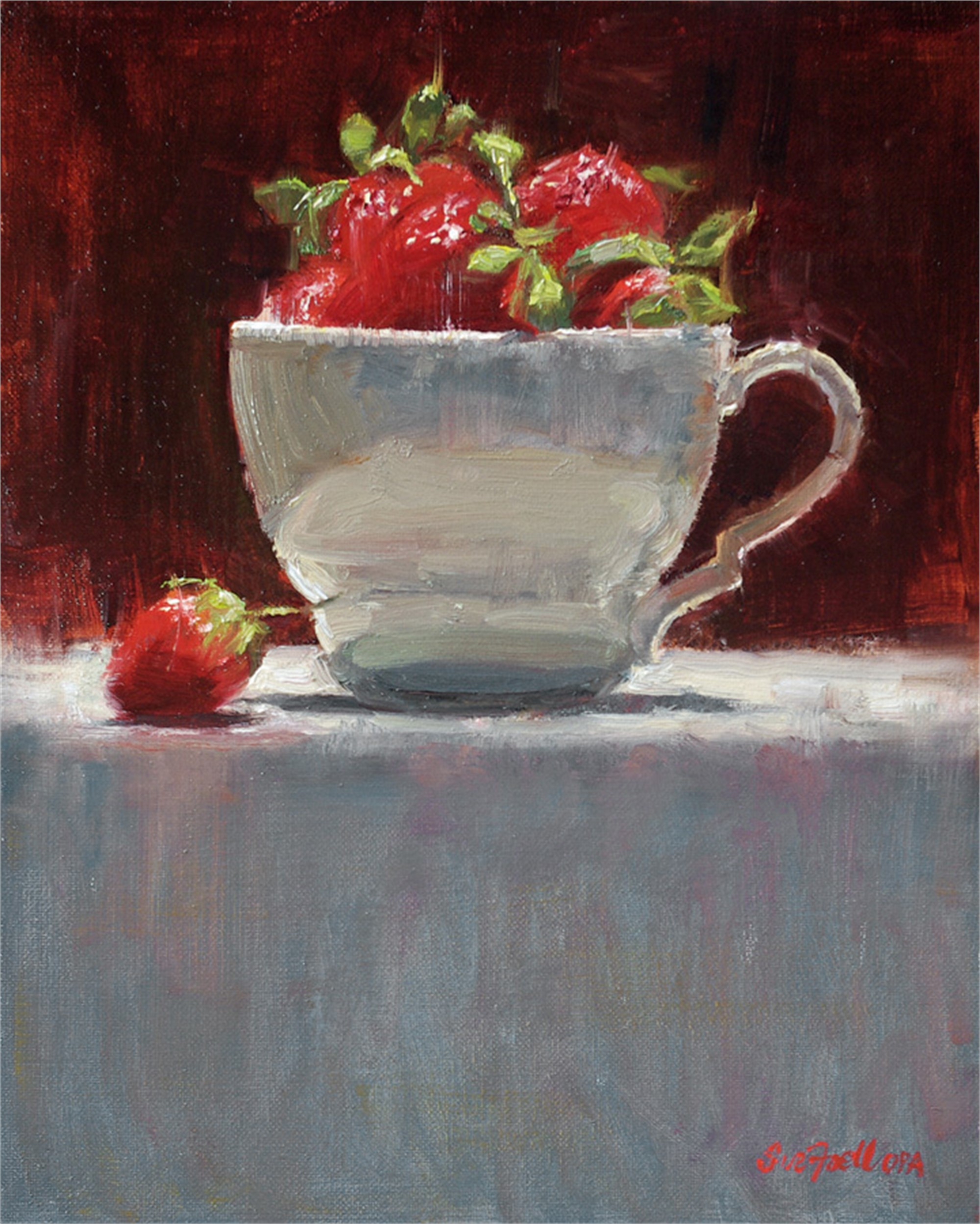 Cup of Berries by Sue Foell, OPA