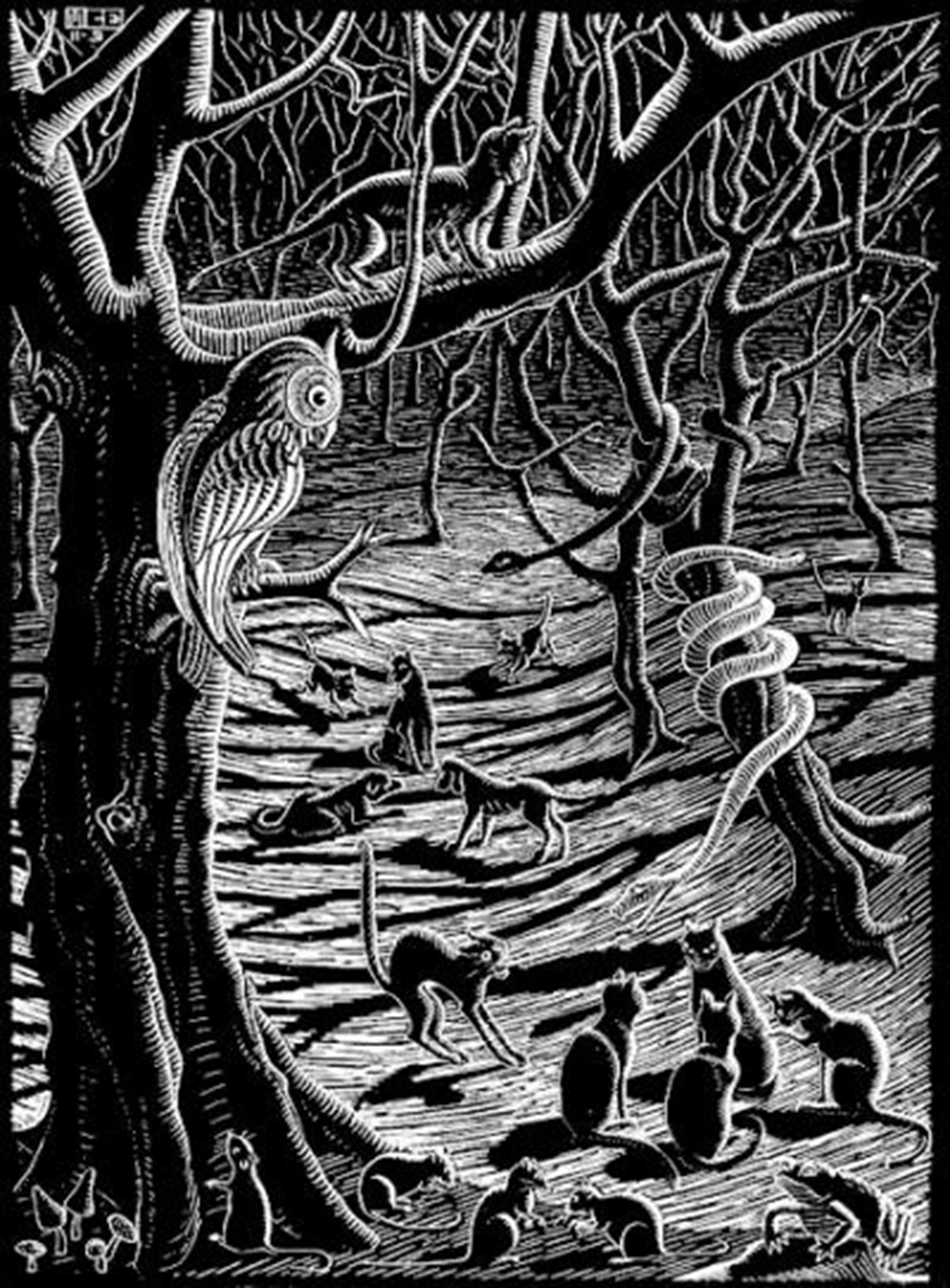 Scholastica (Full Moon) by M.C. Escher