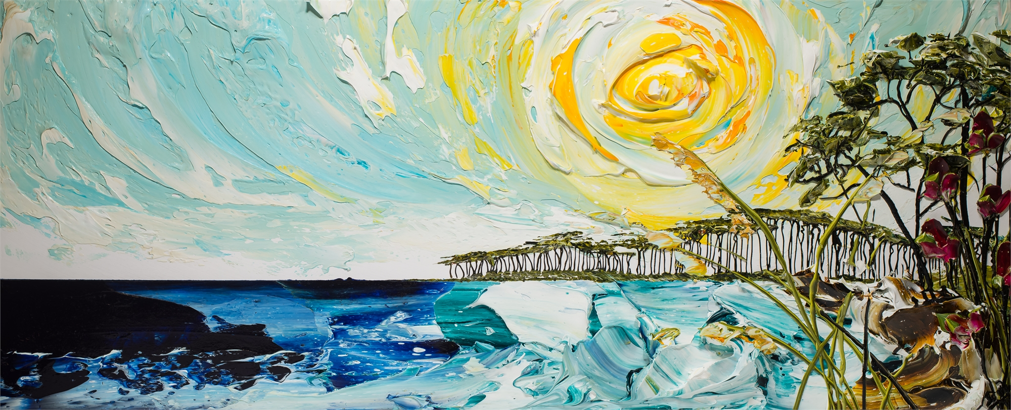 (SOLD) SEASCAPE SS72X30-2018-330 by Justin Gaffrey