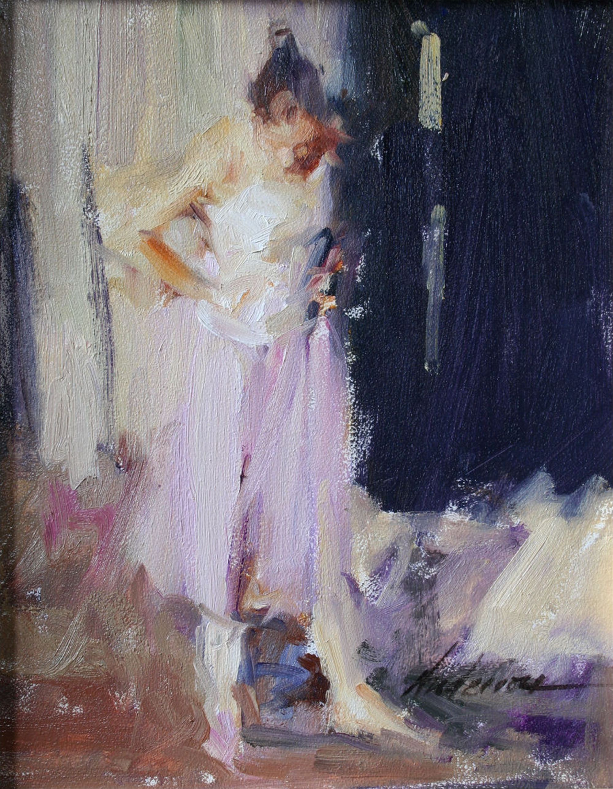 Young Girl in Dance Studio by Carolyn Anderson