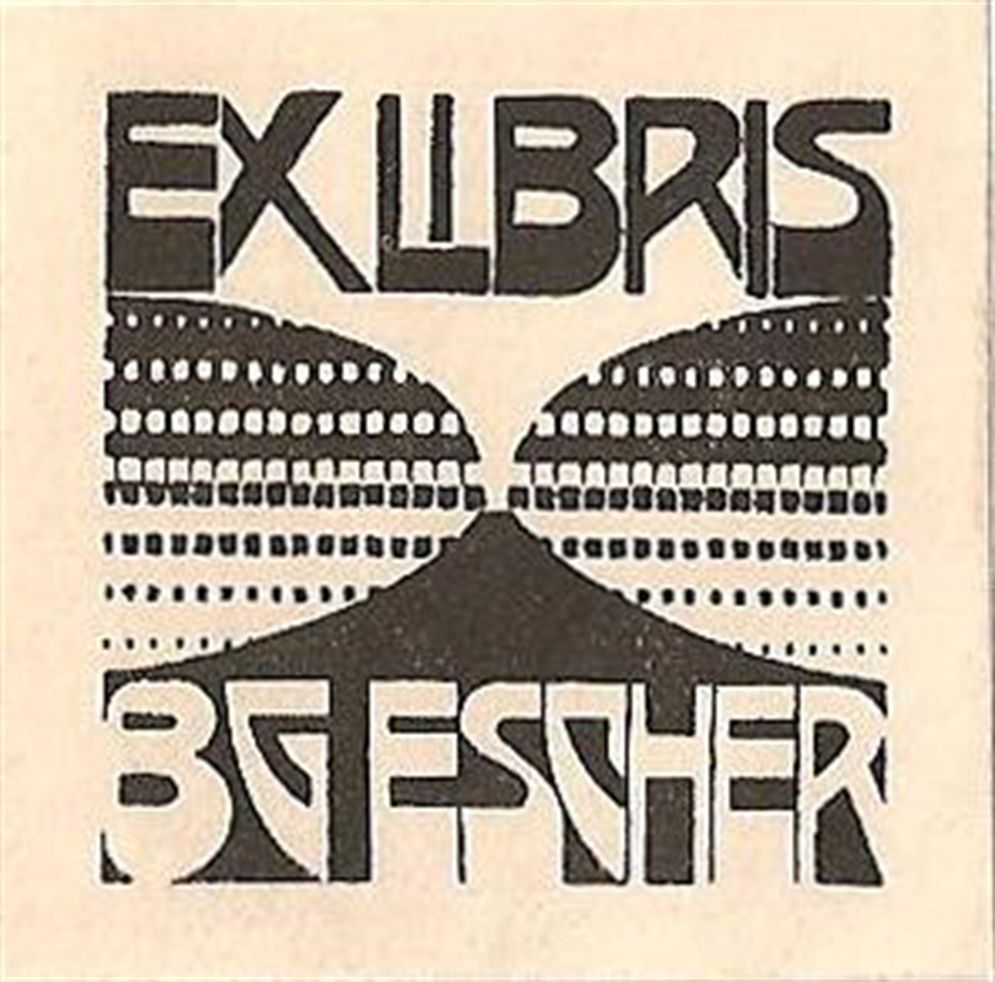 Bookplate B.G. Escher Beer by M.C. Escher