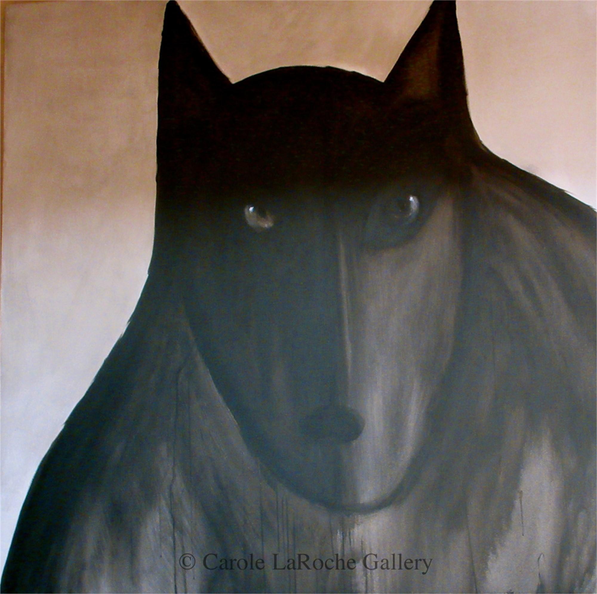 GRANDE MIDNIGHT WOLF by Carole LaRoche
